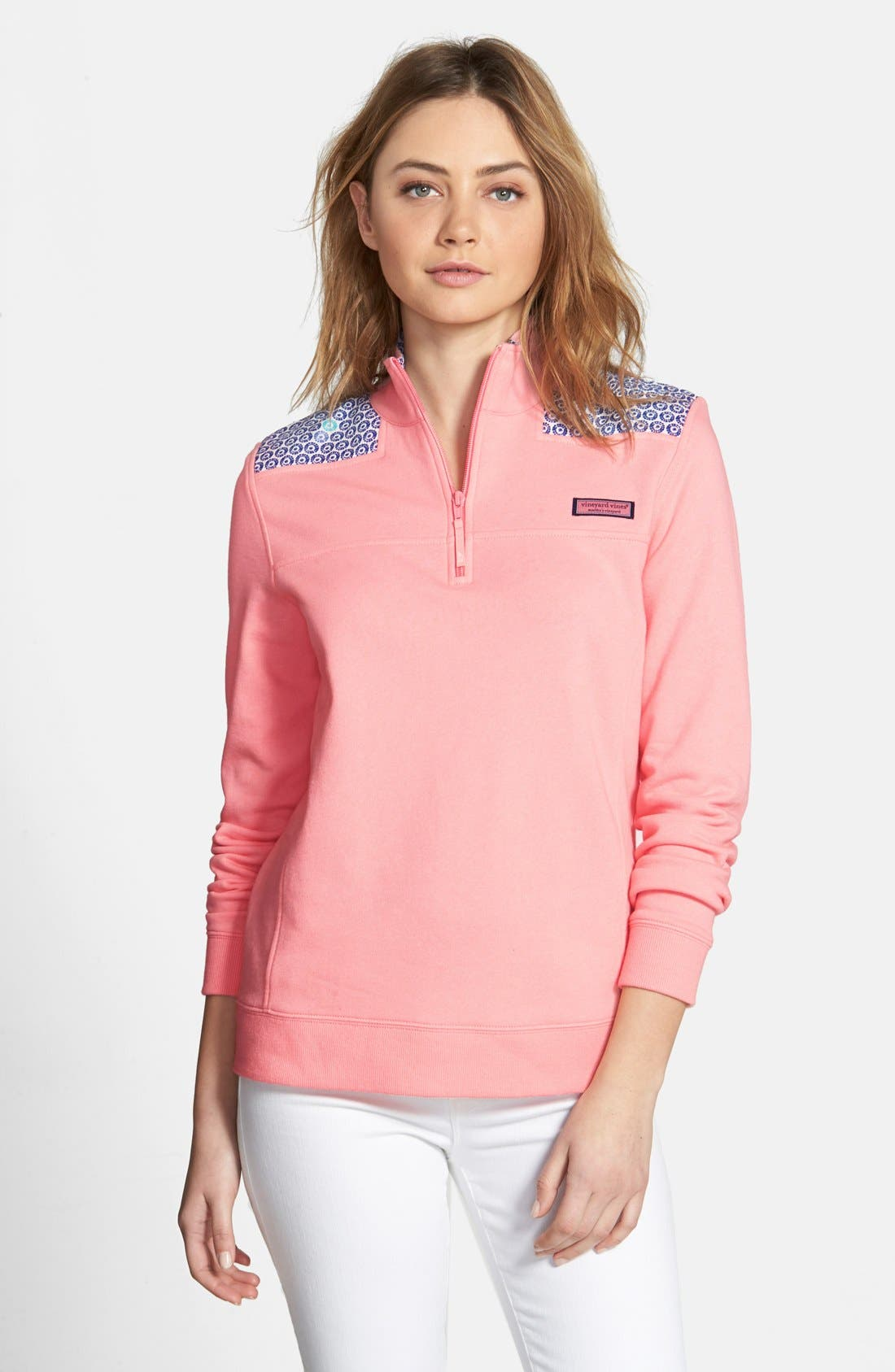 Alternate Image 1 Selected - Vineyard Vines 'Shep' Batik Dot Sweatshirt