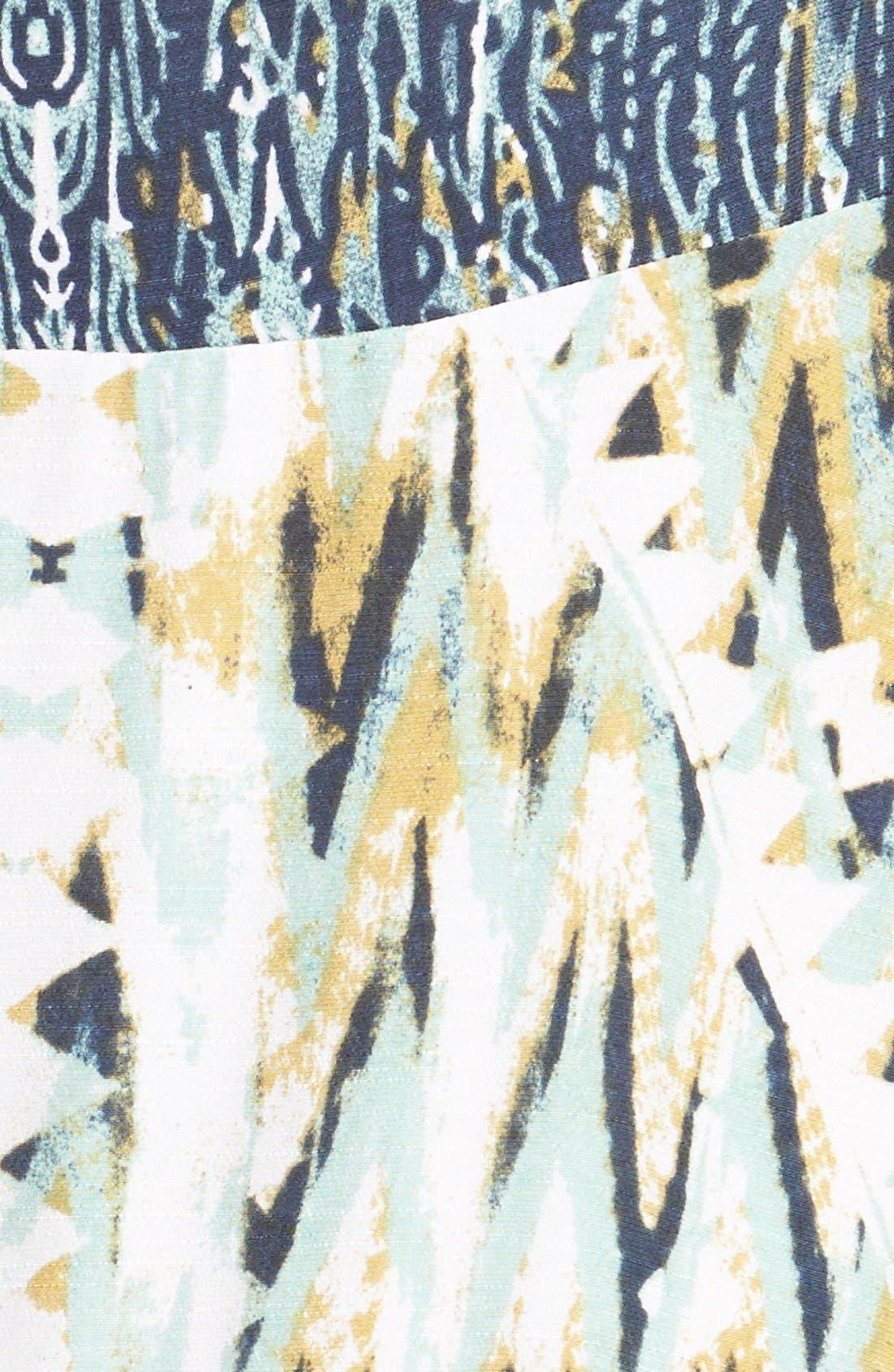 Alternate Image 4  - Free People 'Theodora' Print Babydoll Dress