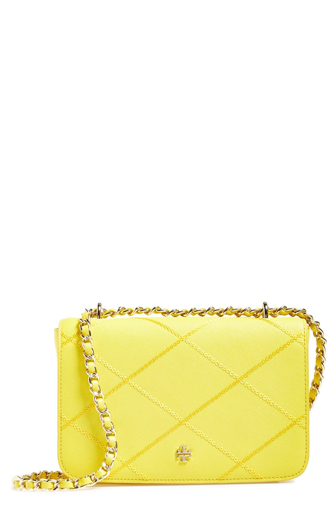 Main Image - Tory Burch 'Robinson' Stitched Leather Shoulder Bag
