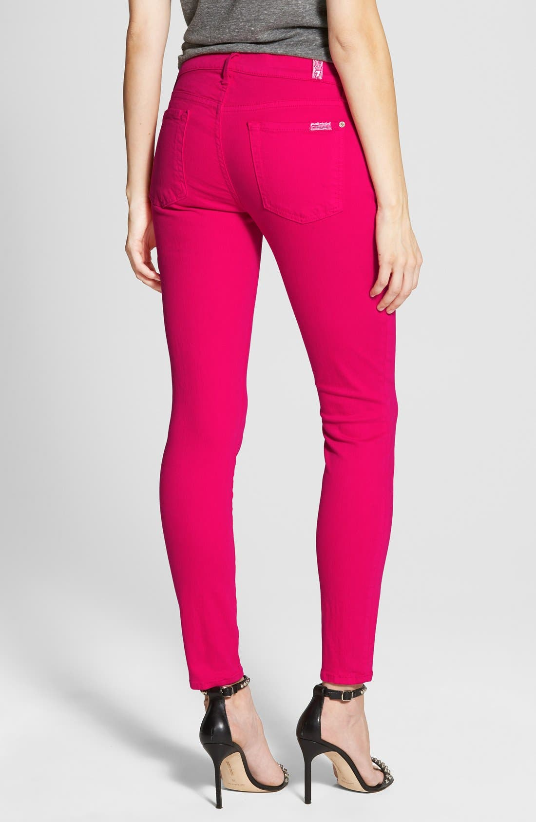 Alternate Image 2  - 7 For All Mankind® 'The Ankle Skinny' Jeans (Paradise Pink)