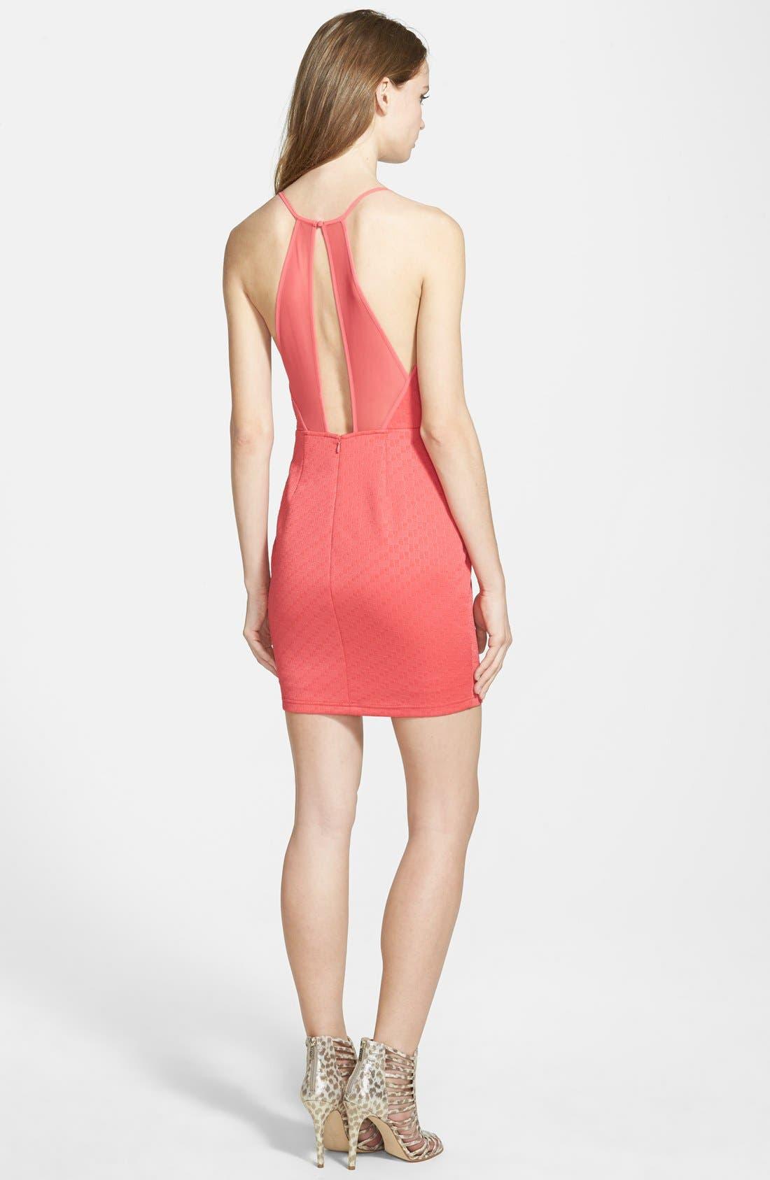 Alternate Image 2  - ASTR Mesh Inset Body-Con Dress