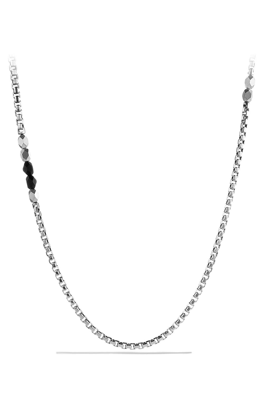 DAVID YURMAN 'Faceted' Metal Necklace