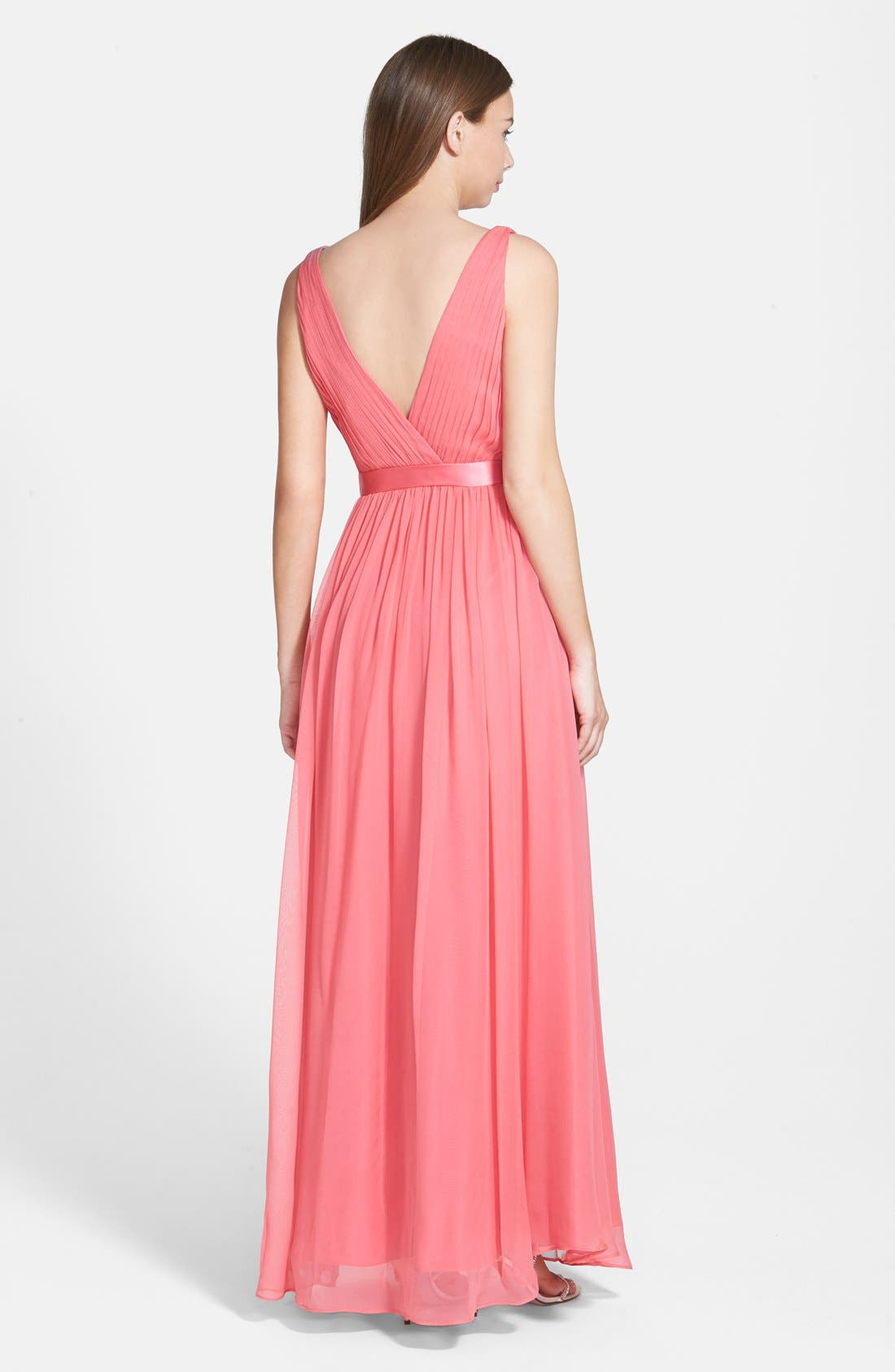 Alternate Image 2  - Aidan Mattox Silk Chiffon Gown