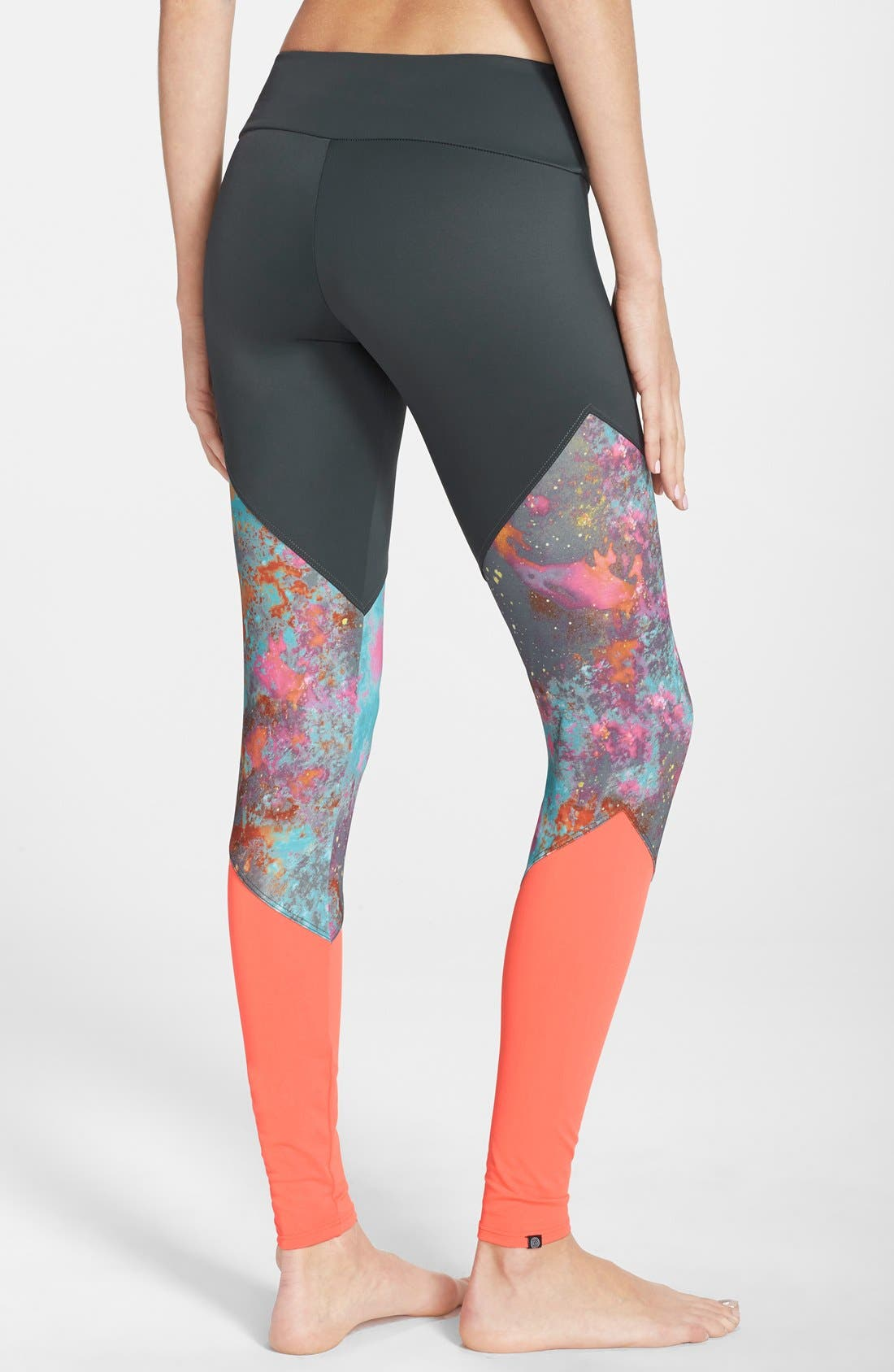 Alternate Image 2  - Onzie Colorblock Track Leggings