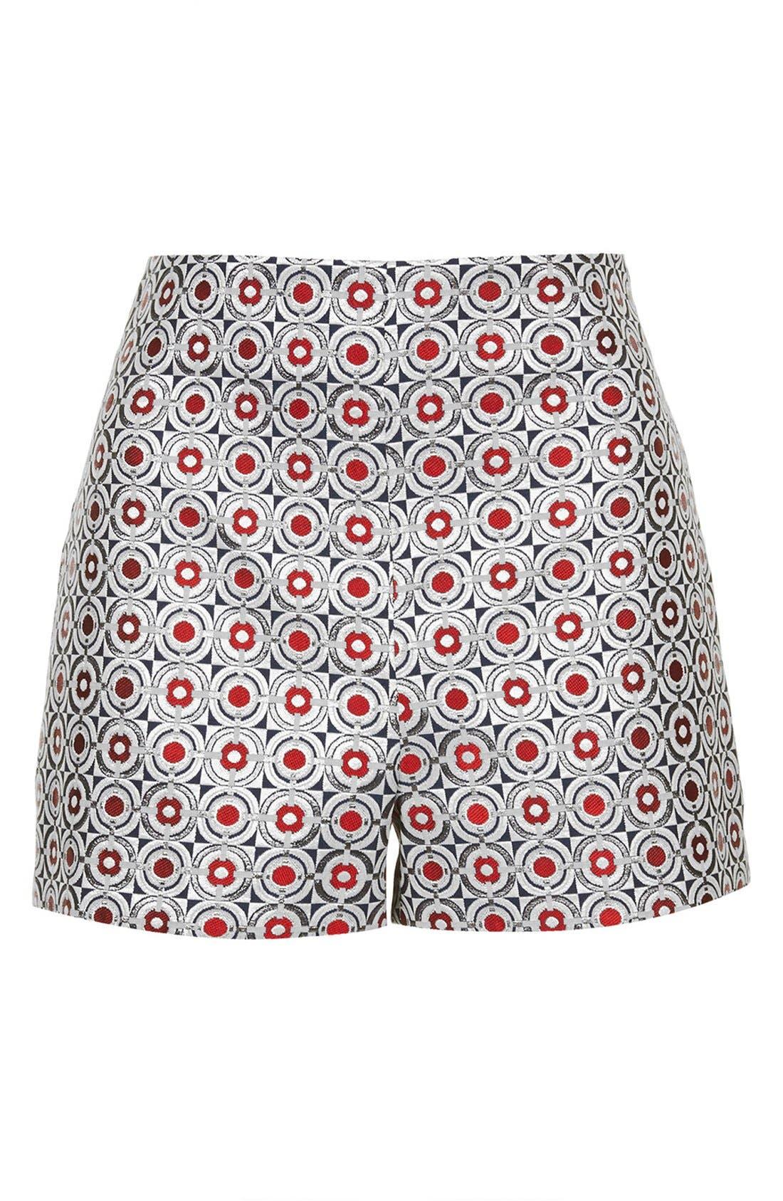 Alternate Image 5  - Topshop Metallic Geo Jacquard High Waist Shorts (Brit Pop-In) (Nordstrom Exclusive)