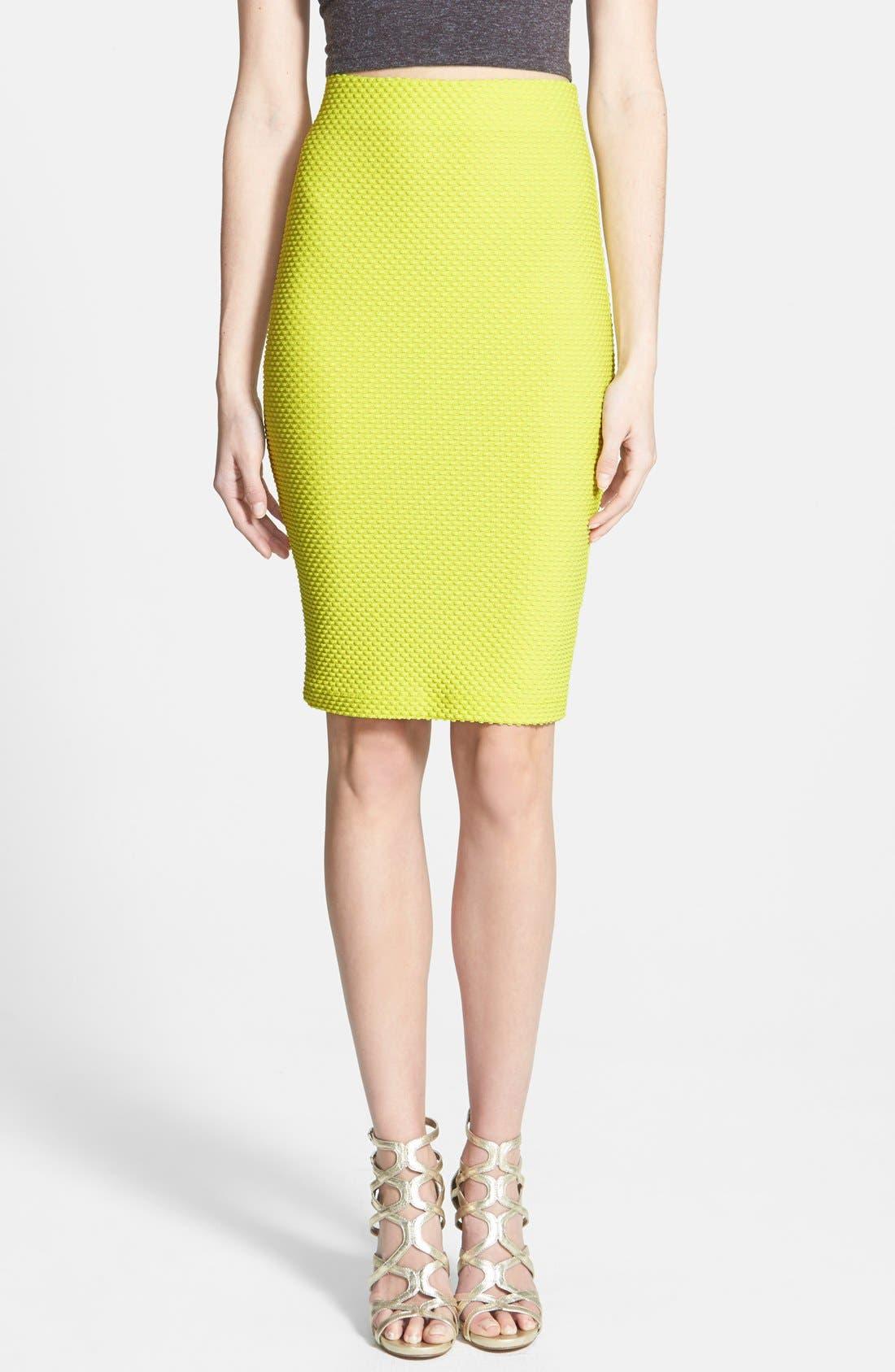Main Image - ASTR Textured Pencil Skirt