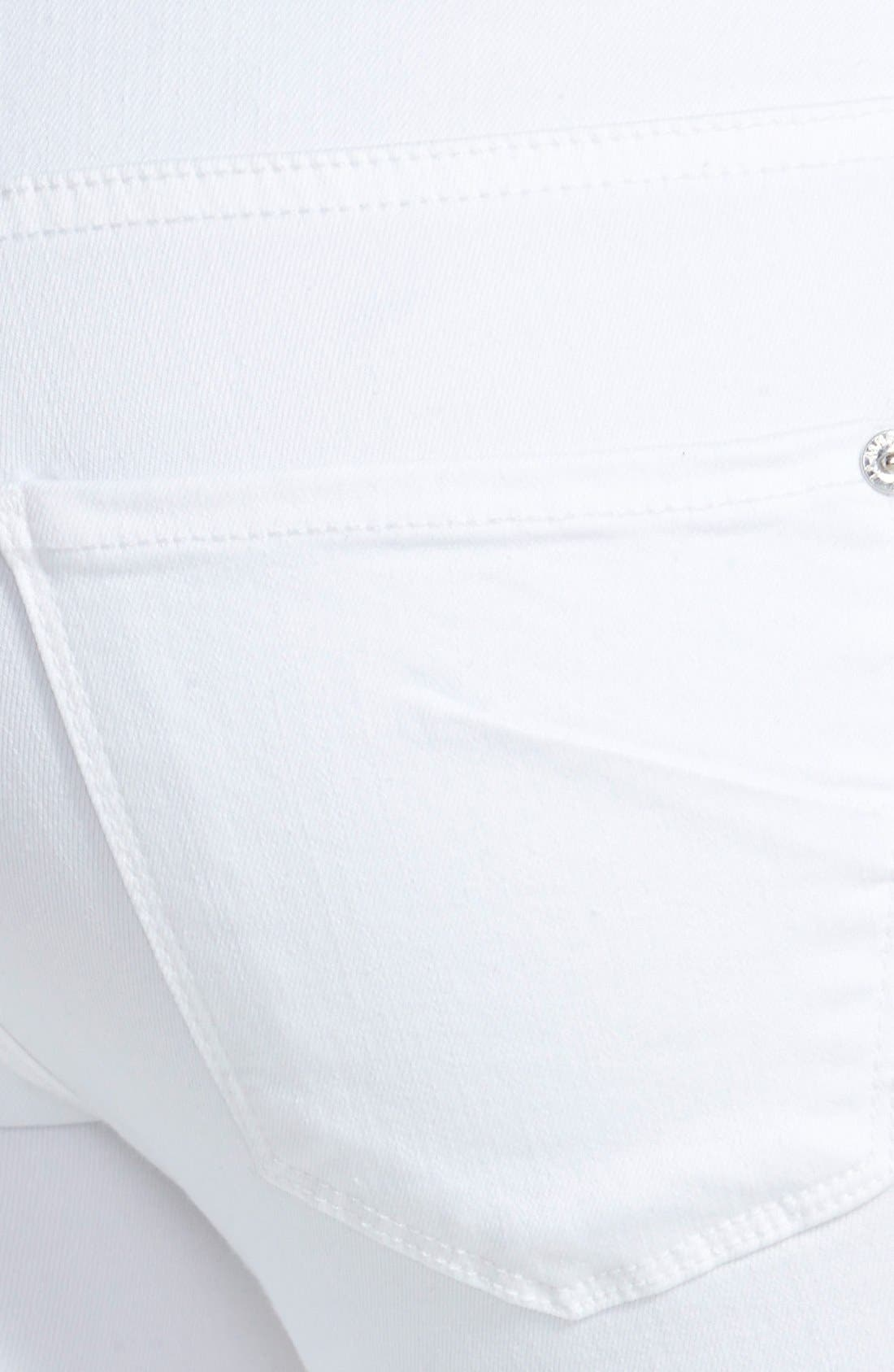 Alternate Image 3  - James Jeans 'Twiggy' Exposed Zip Skinny Jeans (White Clean)