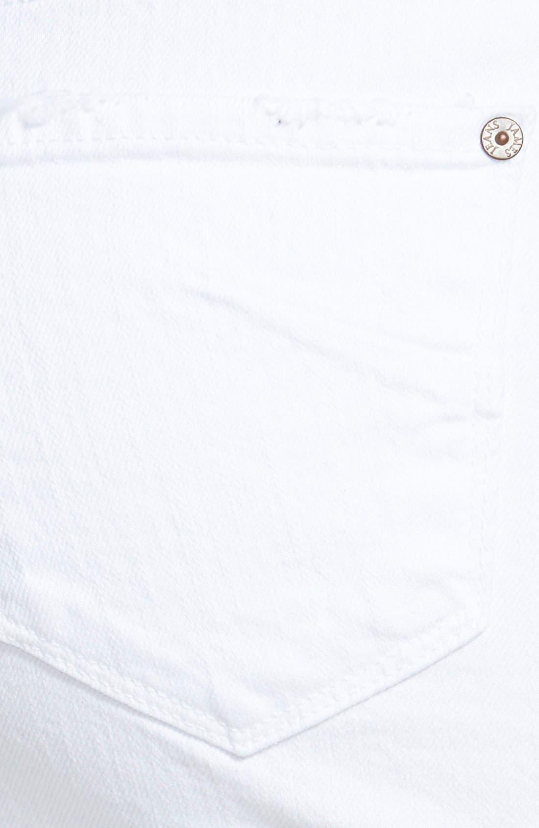 Alternate Image 3  - James Jeans Denim Cutoff Miniskirt (White Opaque)