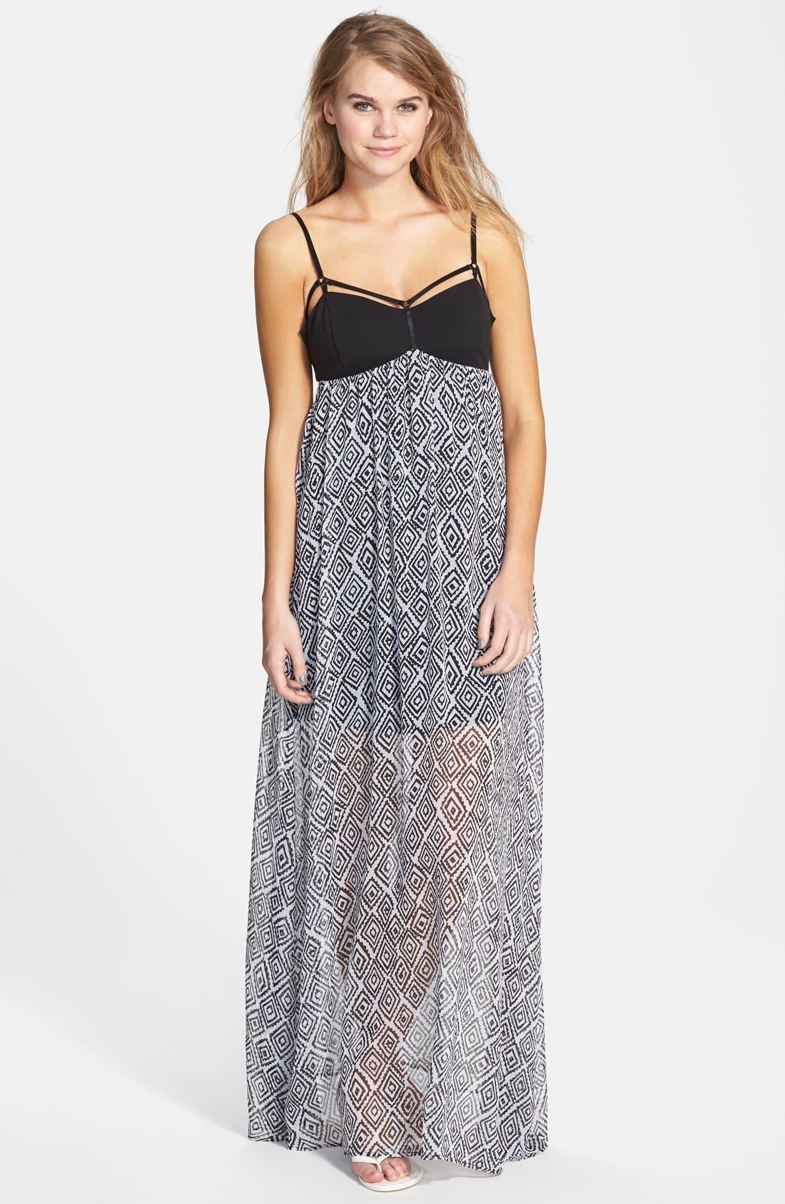 Alternate Image 1 Selected - Volcom 'Playa' Print Maxi Dress