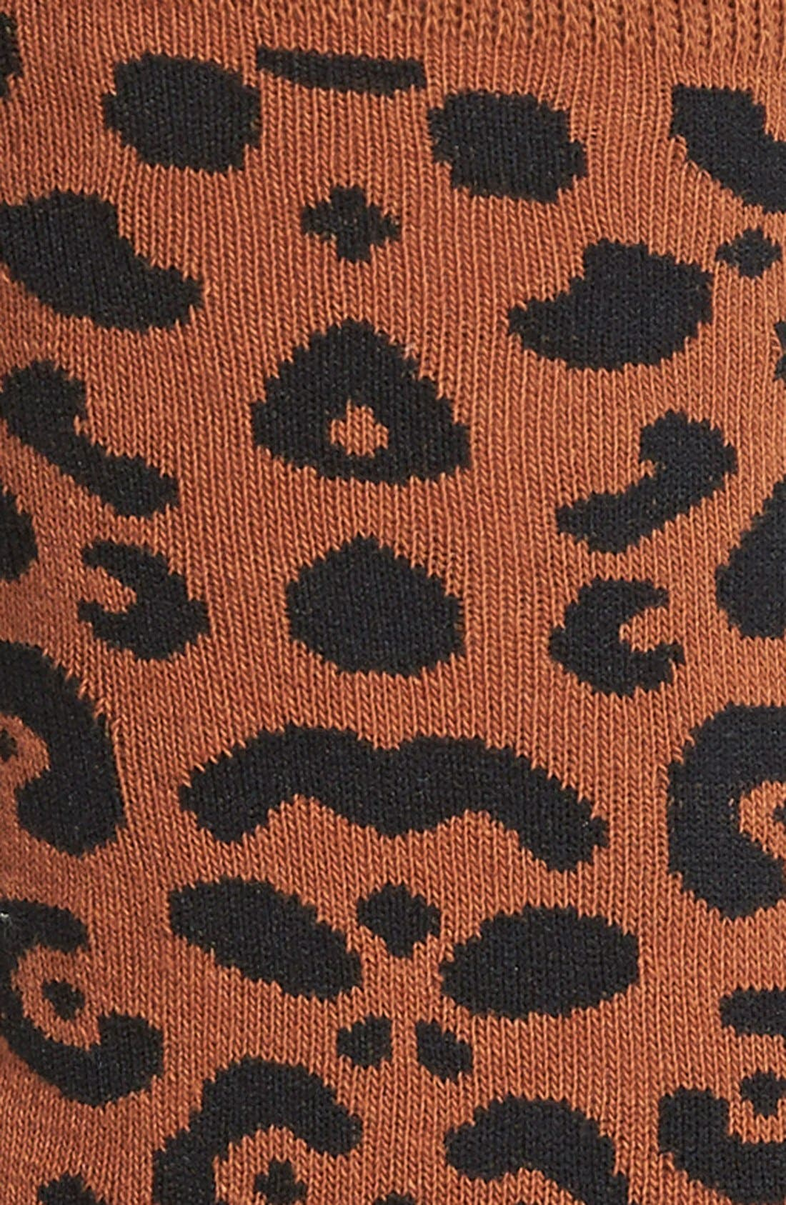 Alternate Image 2  - Hot Sox Leopard Spot Crew Socks