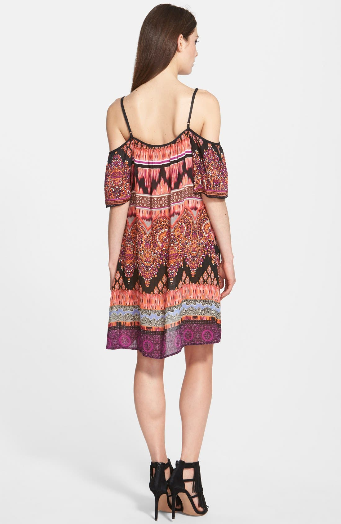 Alternate Image 2  - Band of Gypsies Cold Shoulder Mosaic Dress