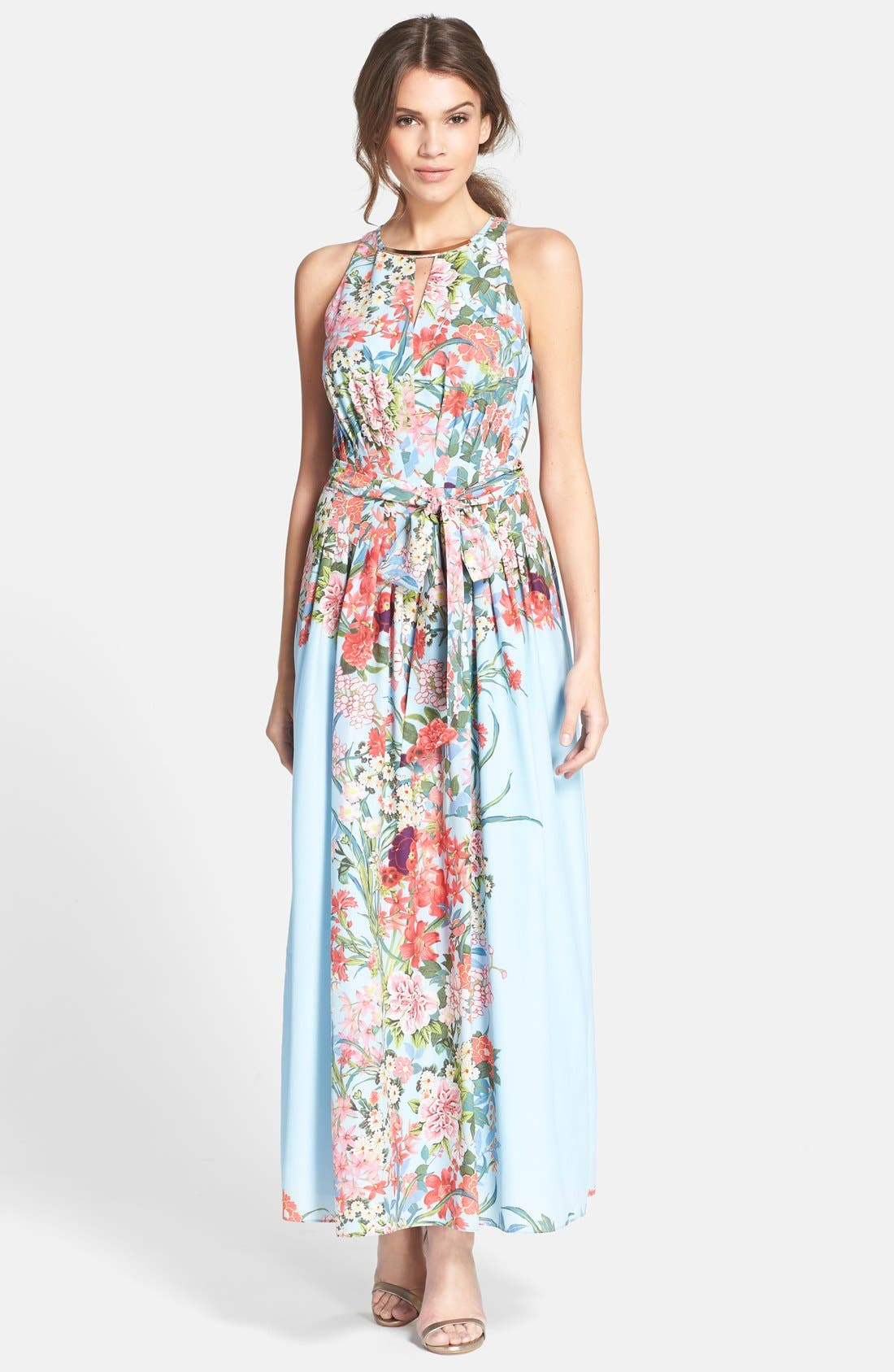 Alternate Image 1 Selected - Adrianna Papell Print Chiffon Fit & Flare Dress