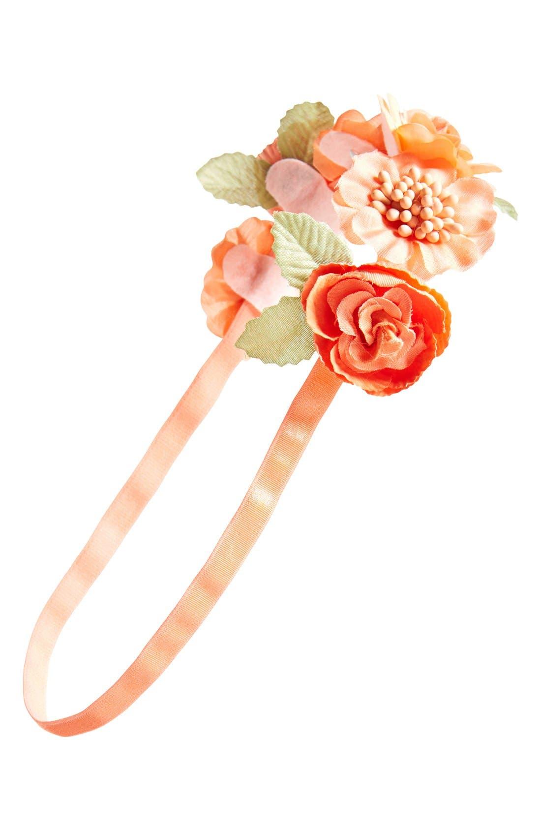 Main Image - BP. Floral Crown Headband (Juniors)