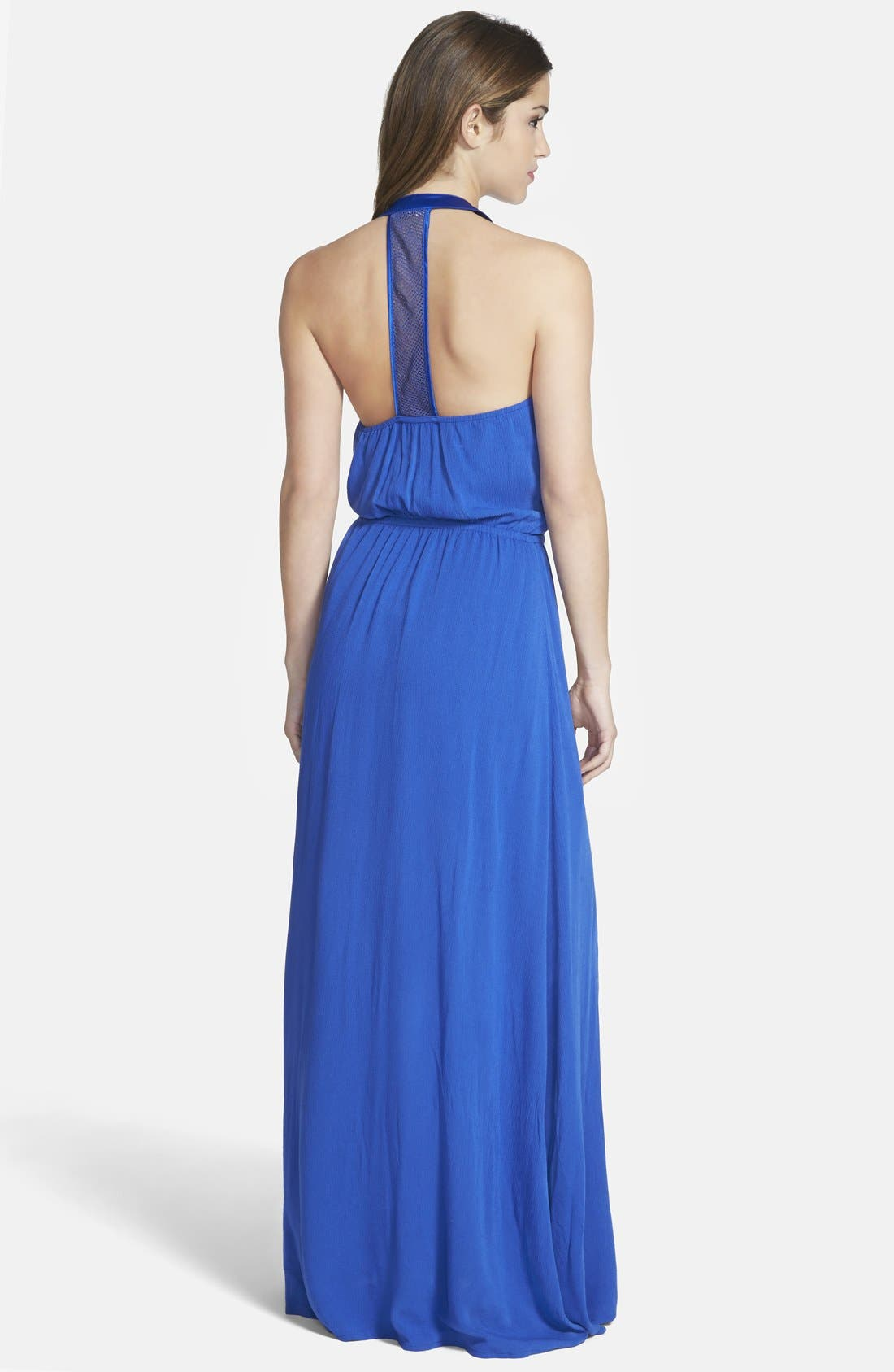 Alternate Image 2  - Miss Me Embroidered Halter Maxi Dress