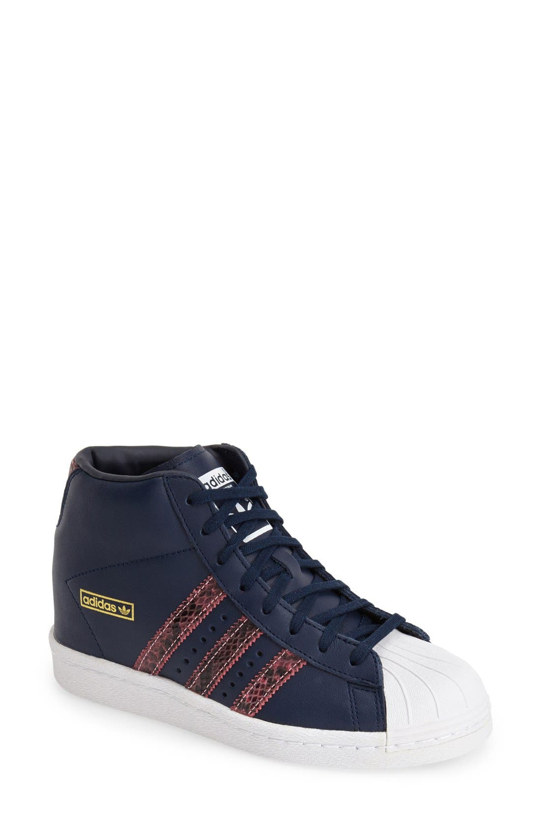 Alternate Image 1 Selected - adidas 'Superstar Up' Hidden Wedge Leather Sneaker (Women)
