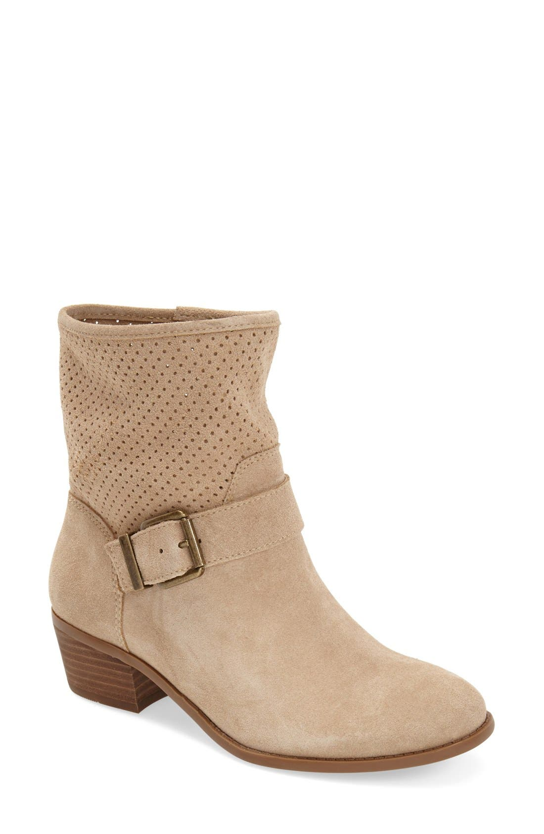 Main Image - Sole Society 'Sola' Perforated Suede Western Bootie (Women)