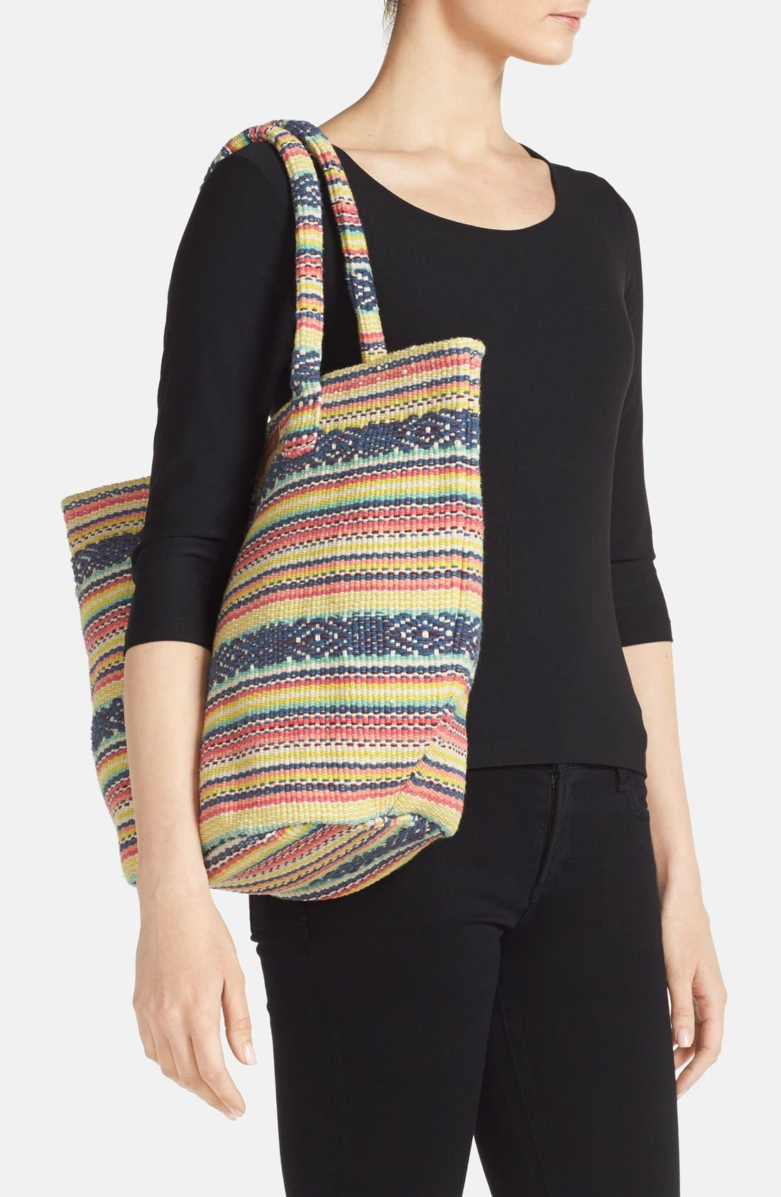 Alternate Image 2  - Billabong 'Even Waves' Woven Beach Tote