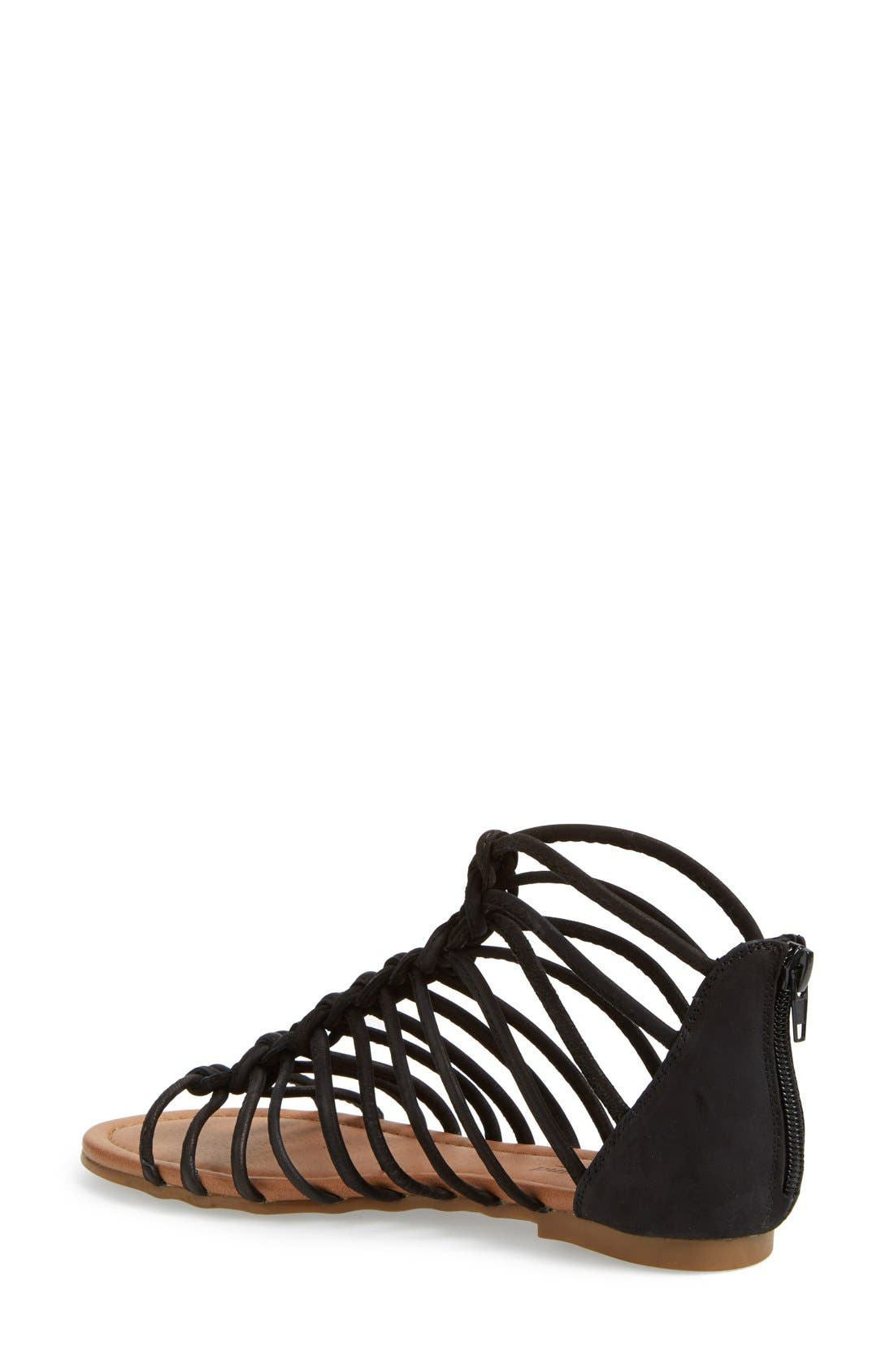 Alternate Image 2  - Lucky Brand 'Casmett' Leather Caged Sandal (Women)