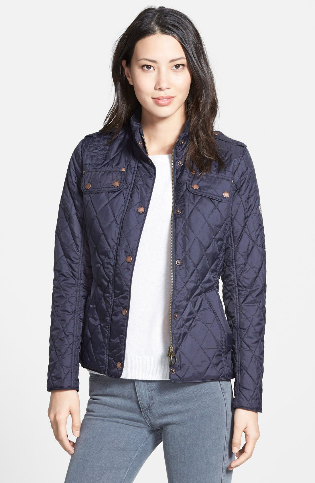 Main Image - Barbour 'Jody' Quilted Moto Jacket