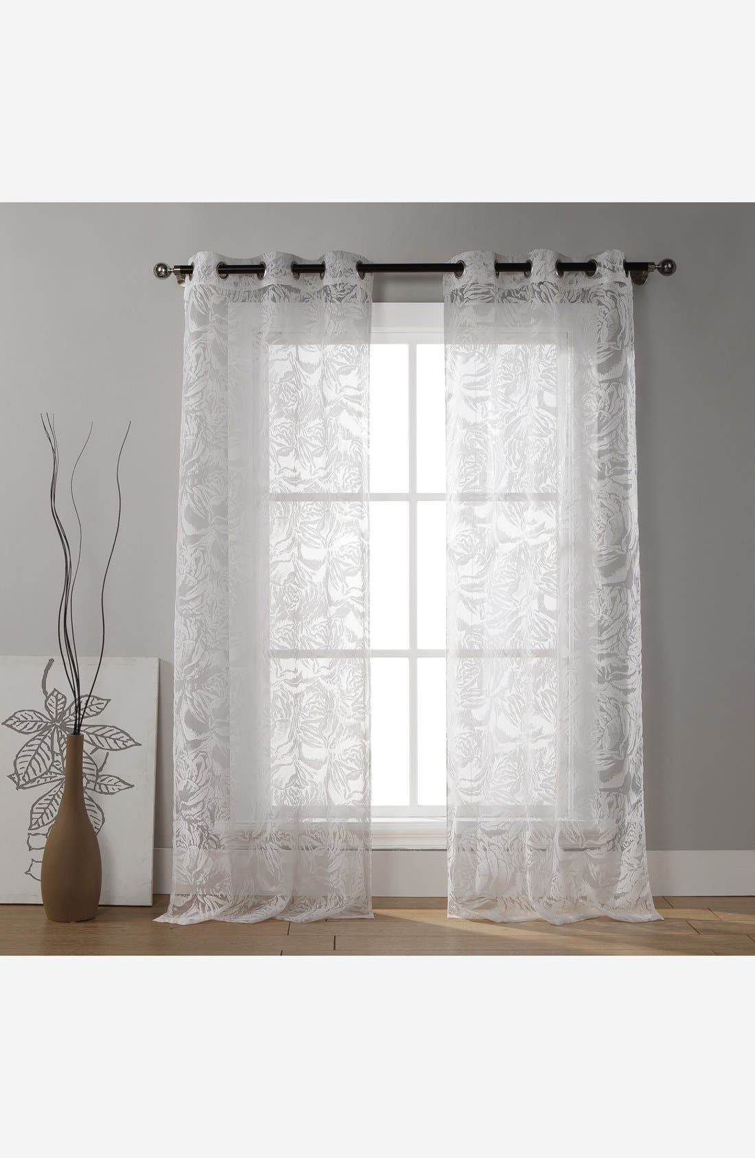 Alternate Image 1 Selected - Duck River Textile 'Raisa' Floral Grommet Window Panels (Set of 2)