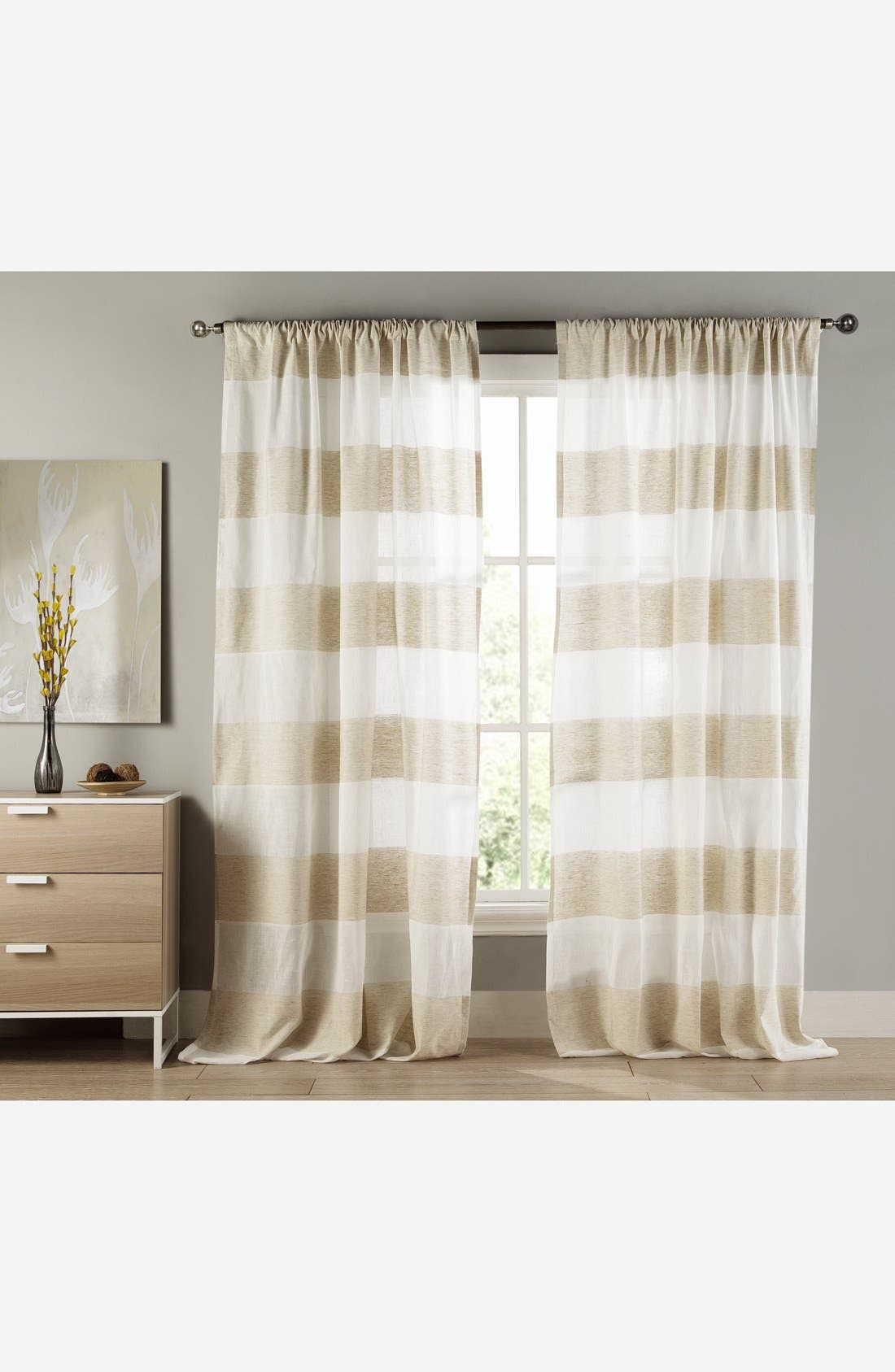 Alternate Image 1 Selected - Duck River Textile 'Lydelle' Cabana Stripe Window Panels (Set of 2)