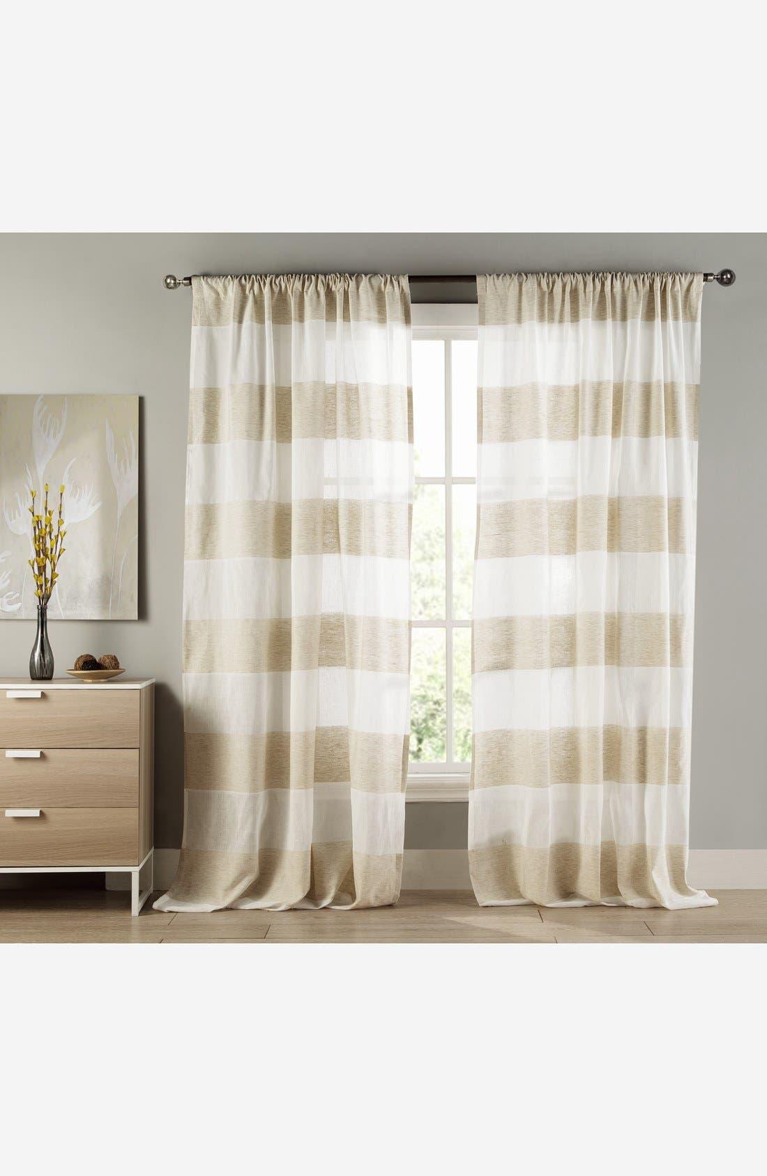 Main Image - Duck River Textile 'Lydelle' Cabana Stripe Window Panels (Set of 2)