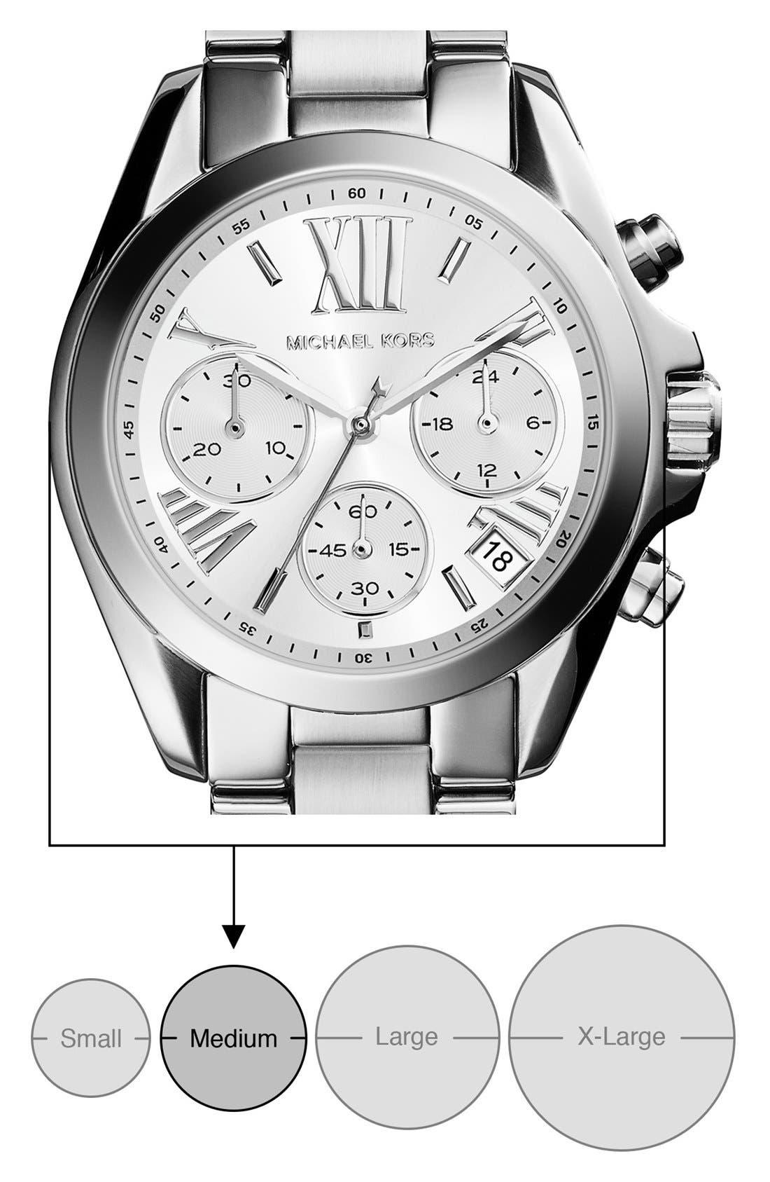 Alternate Image 4  - Michael Kors 'Bradshaw - Mini' Chronograph Bracelet Watch, 36mm