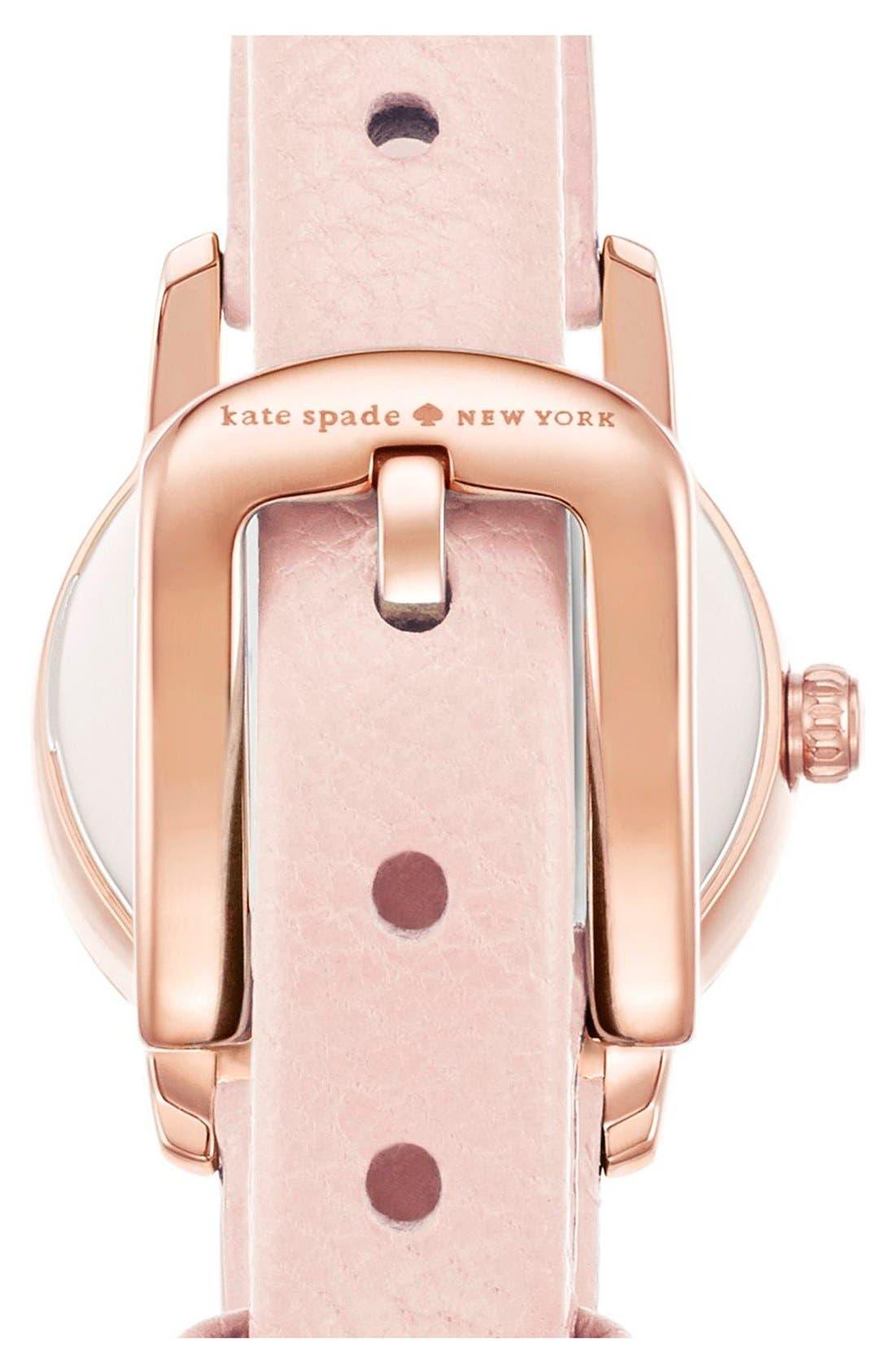 Alternate Image 2  - kate spade new york 'tiny metro' leather strap watch, 20mm