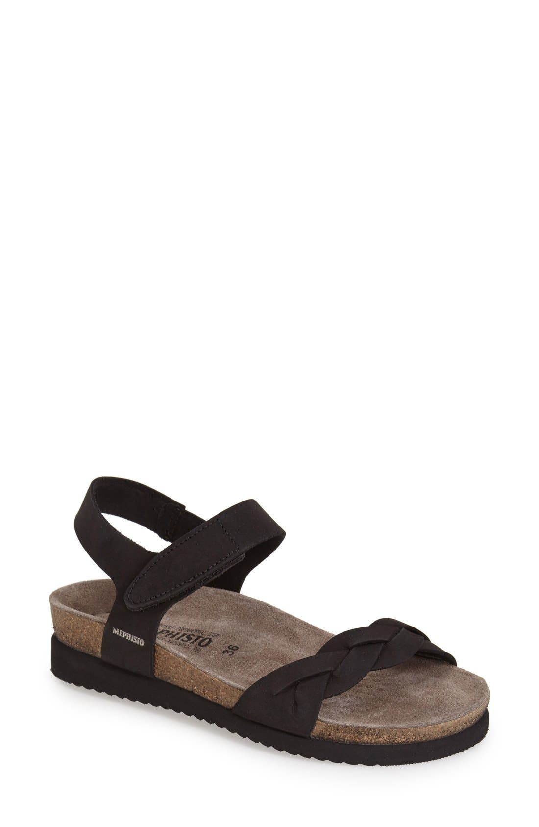 Alternate Image 1 Selected - Mephisto 'Honoria' Nubuck Leather Sandal (Women)