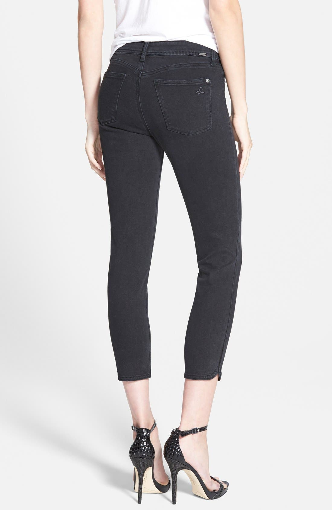 Alternate Image 2  - DL1961 'Bardot' Crop Skinny Jeans (Rhett)