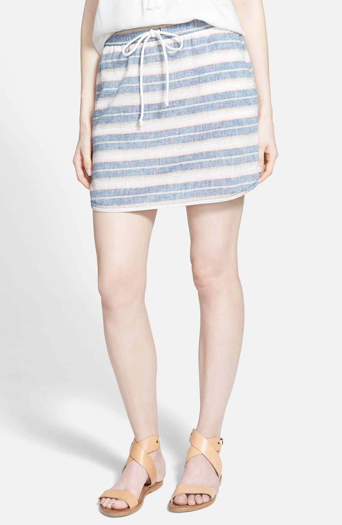 Alternate Image 1 Selected - Hinge Stripe Skirt