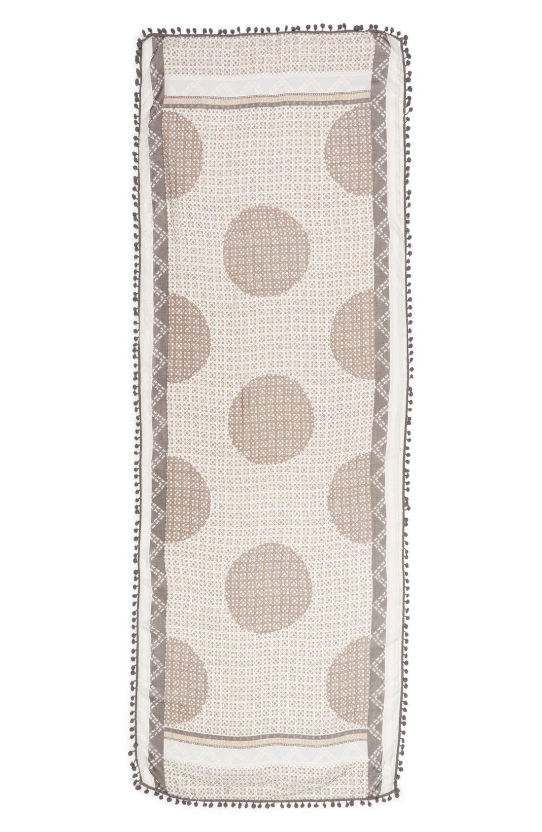 Alternate Image 2  - Halogen® Mini Mosaic Print Oblong Scarf