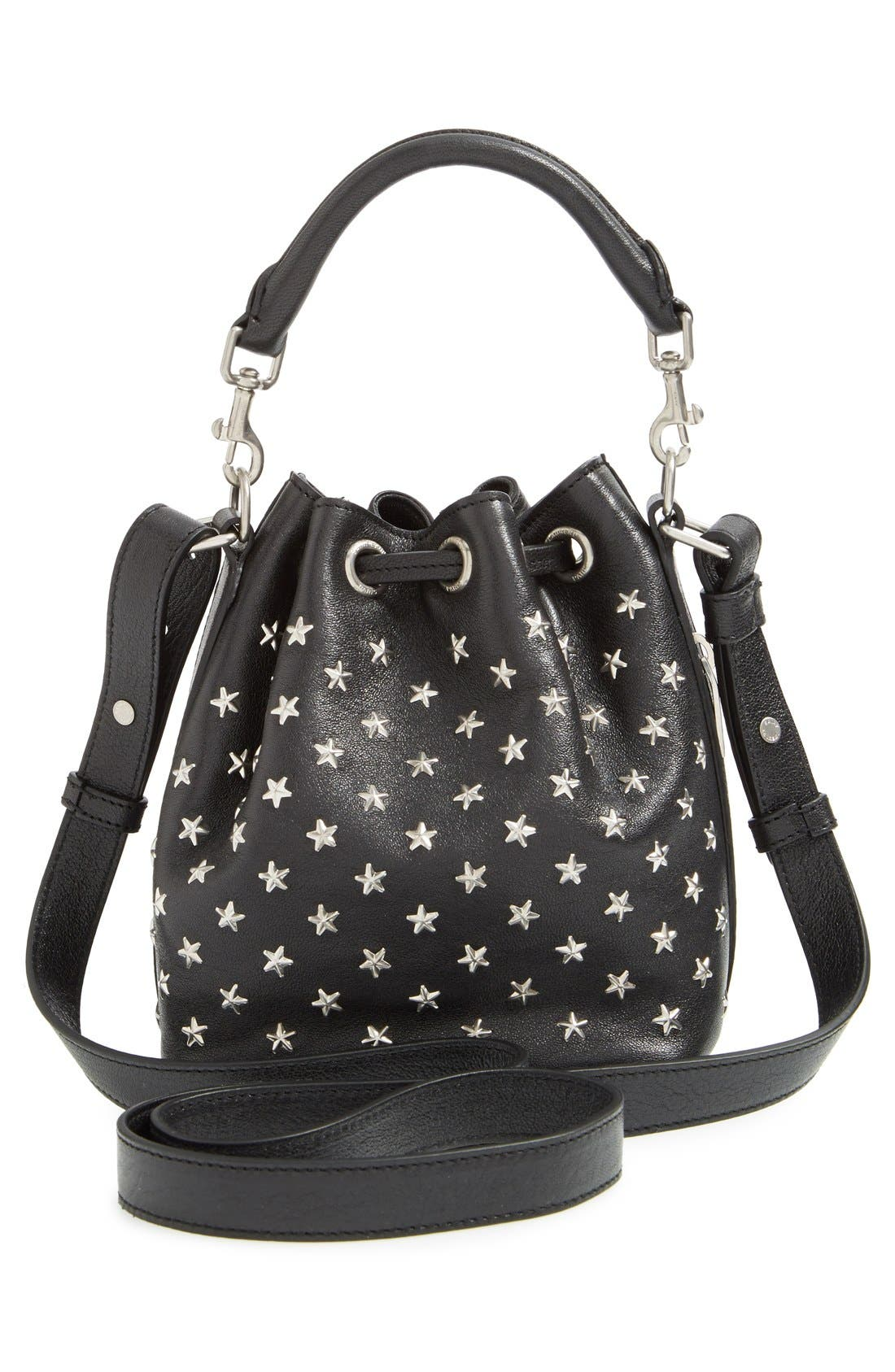 Alternate Image 2  - Saint Laurent Studded Small Leather Bucket Bag