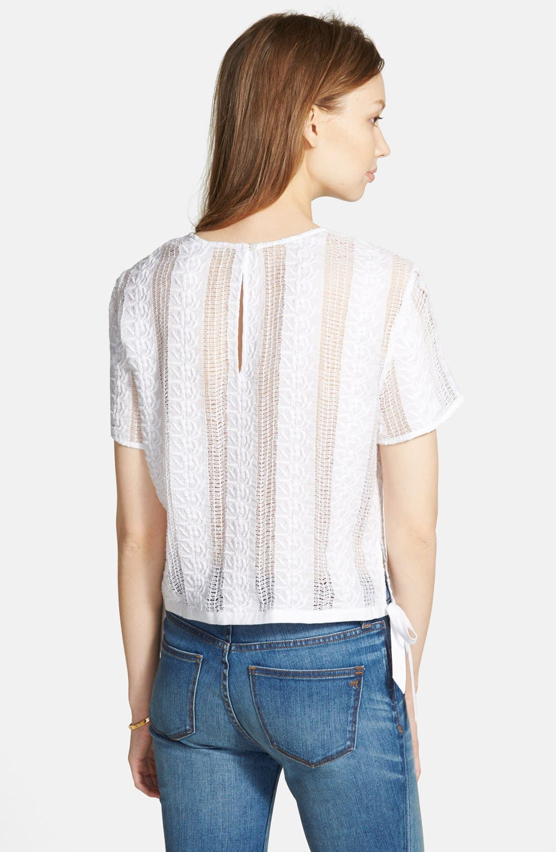 Alternate Image 2  - Madewell Lace Side Tie Crop Tee
