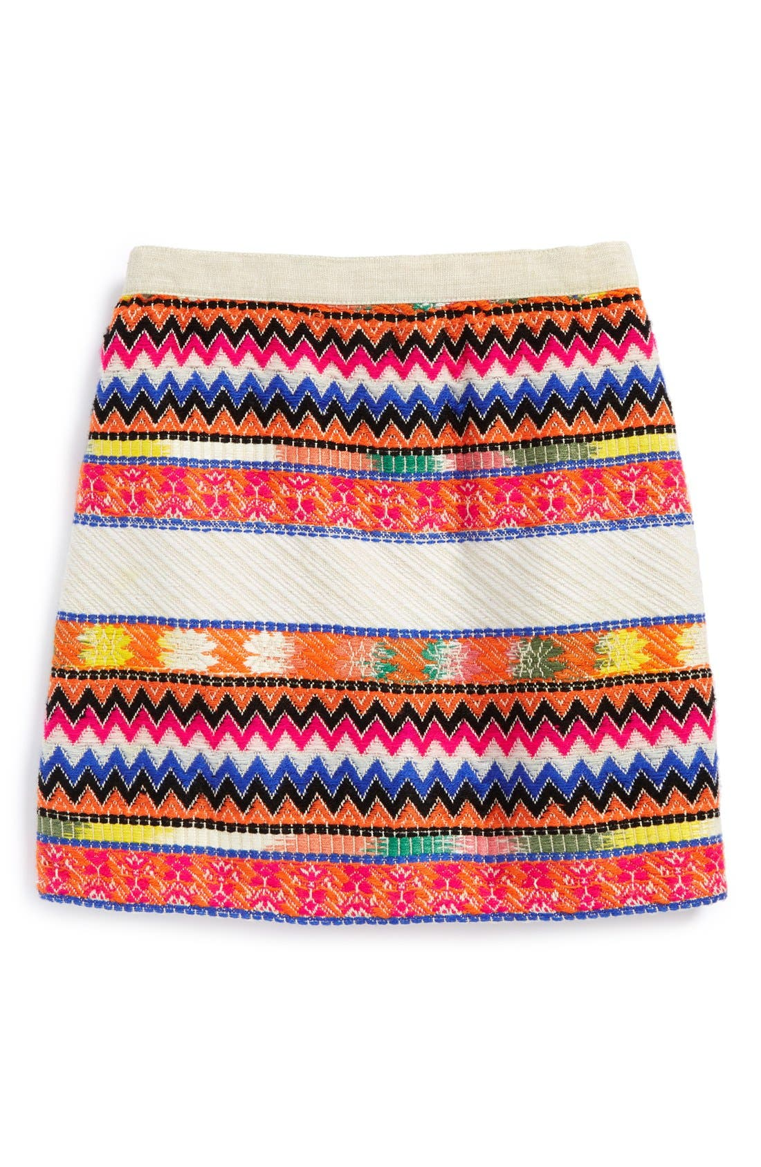Alternate Image 1 Selected - Peek 'Natalie' Embroidered Skirt (Toddler Girls, Little Girls & Big Girls)
