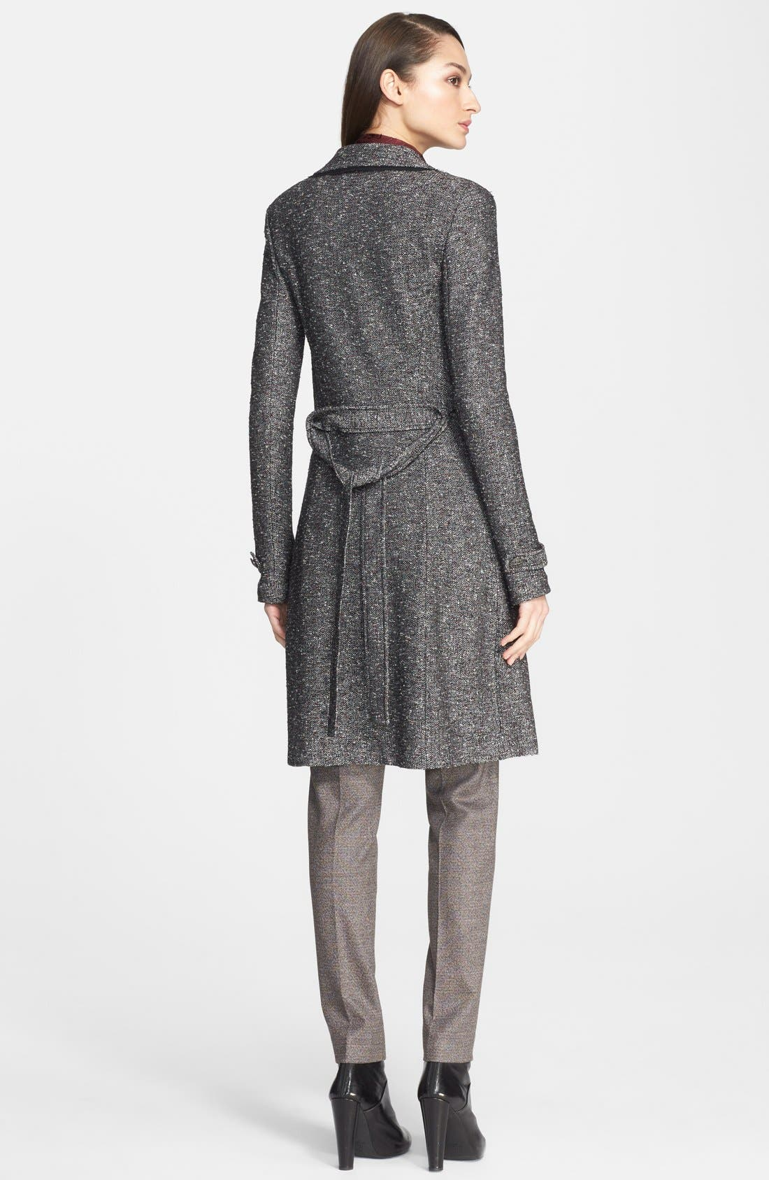 Alternate Image 3  - St. John Collection Flecked Tweed Knit Topper