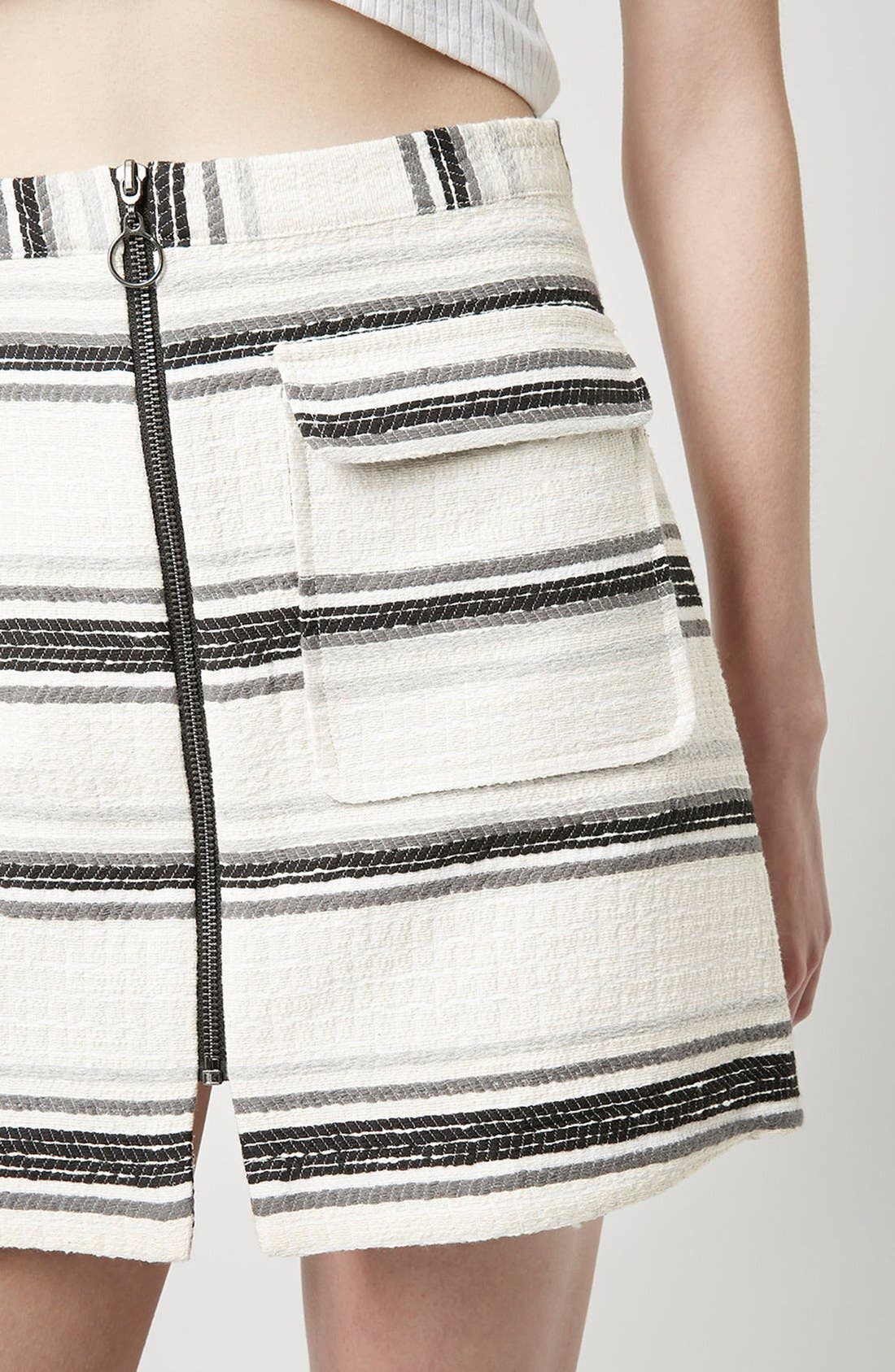 Alternate Image 4  - Topshop Zip Through A-Line Skirt (Petite)