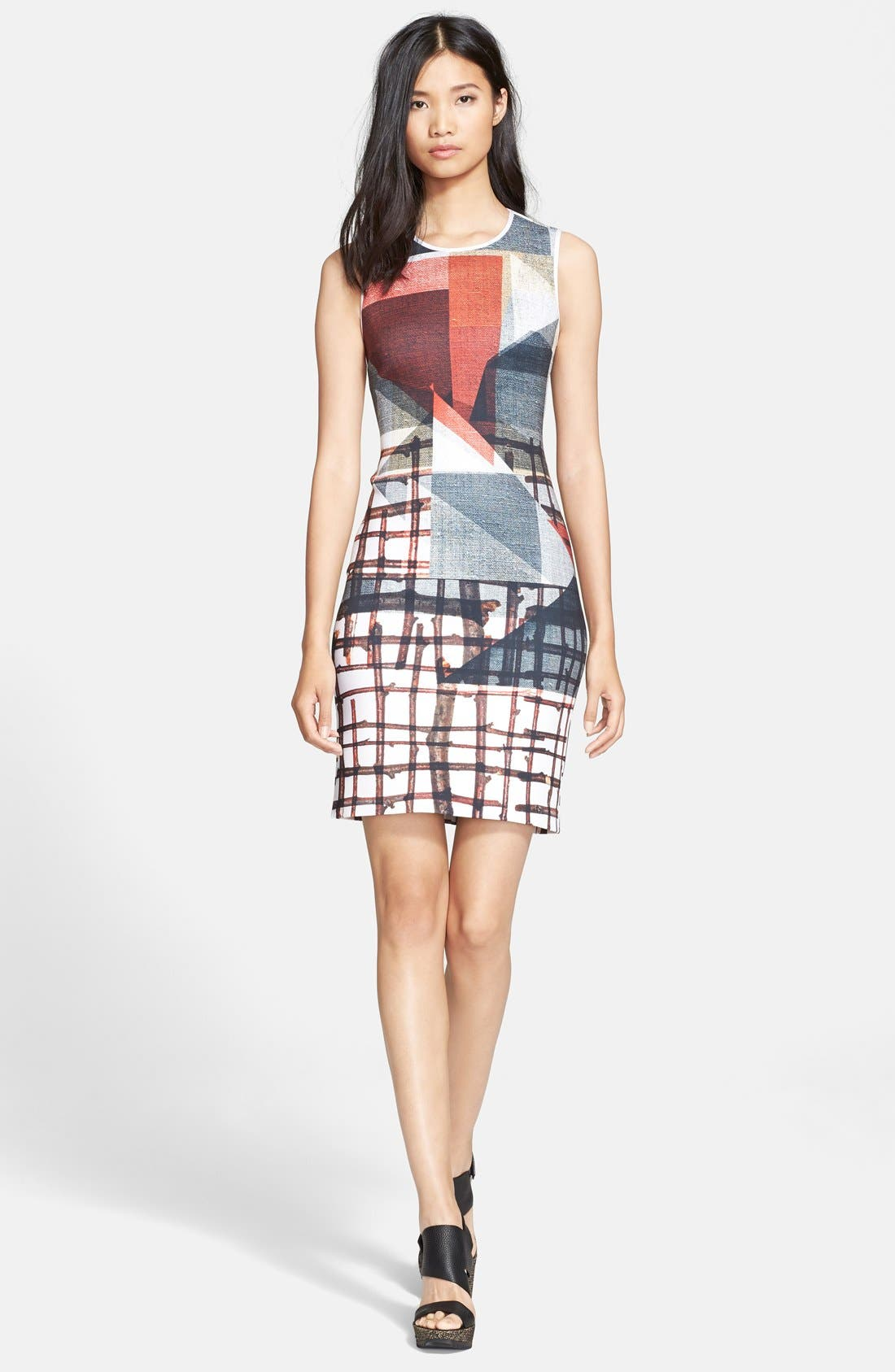 Alternate Image 1 Selected - Clover Canyon 'Gradient Plaid' Body-Con Dress