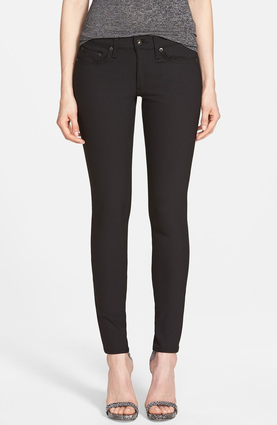 Main Image - rag & bone/JEAN Skinny Jeans (Equestrian)