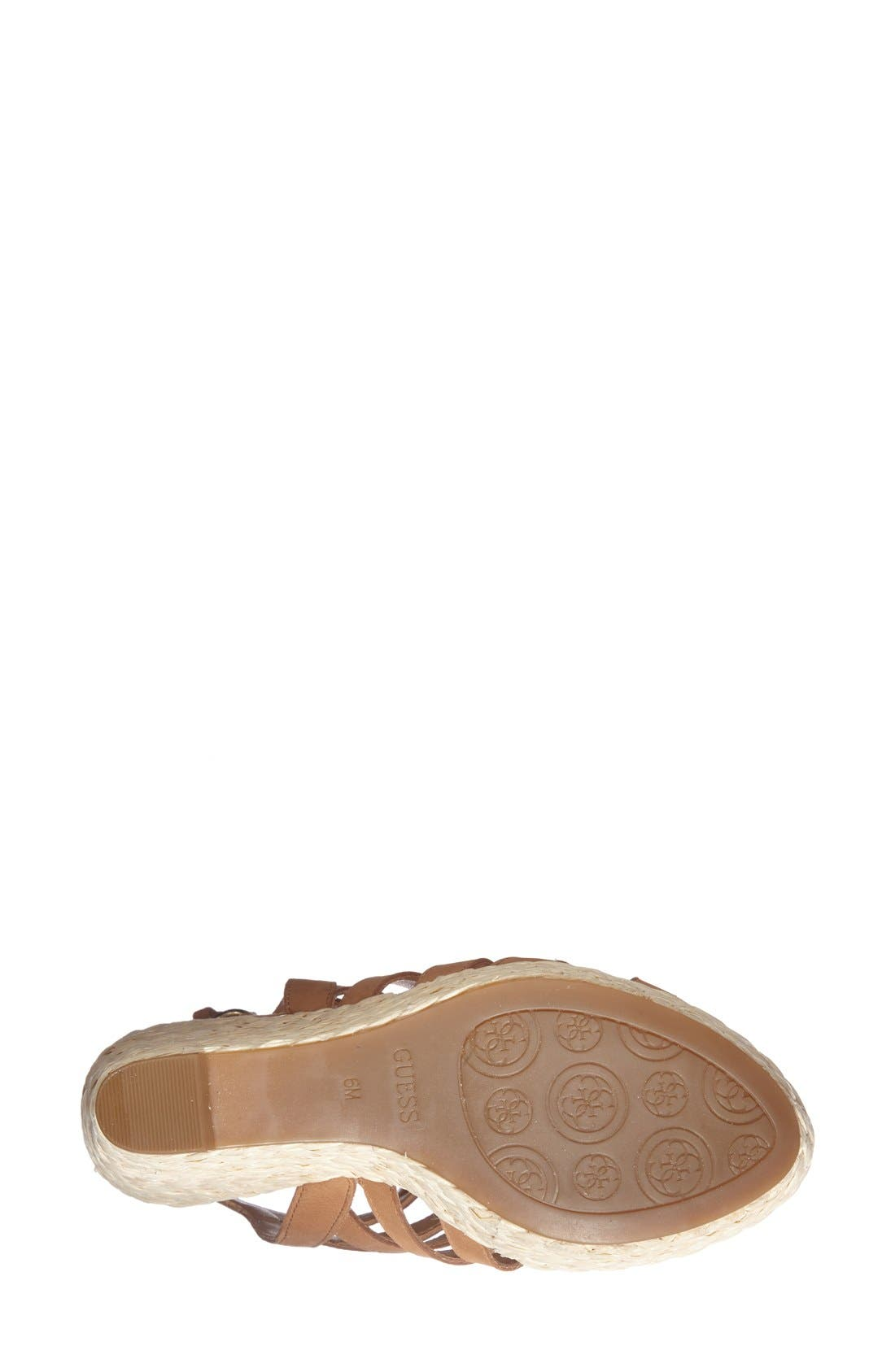 Alternate Image 4  - GUESS 'Onixx' Snake Embossed Leather Wedge Sandal (Women)