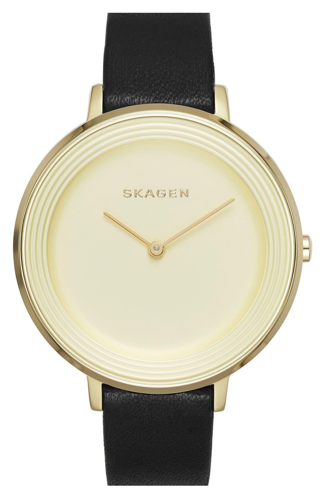 Main Image - Skagen 'Ditte' Round Textured Dial Watch, 37mm (Nordstrom Exclusive)