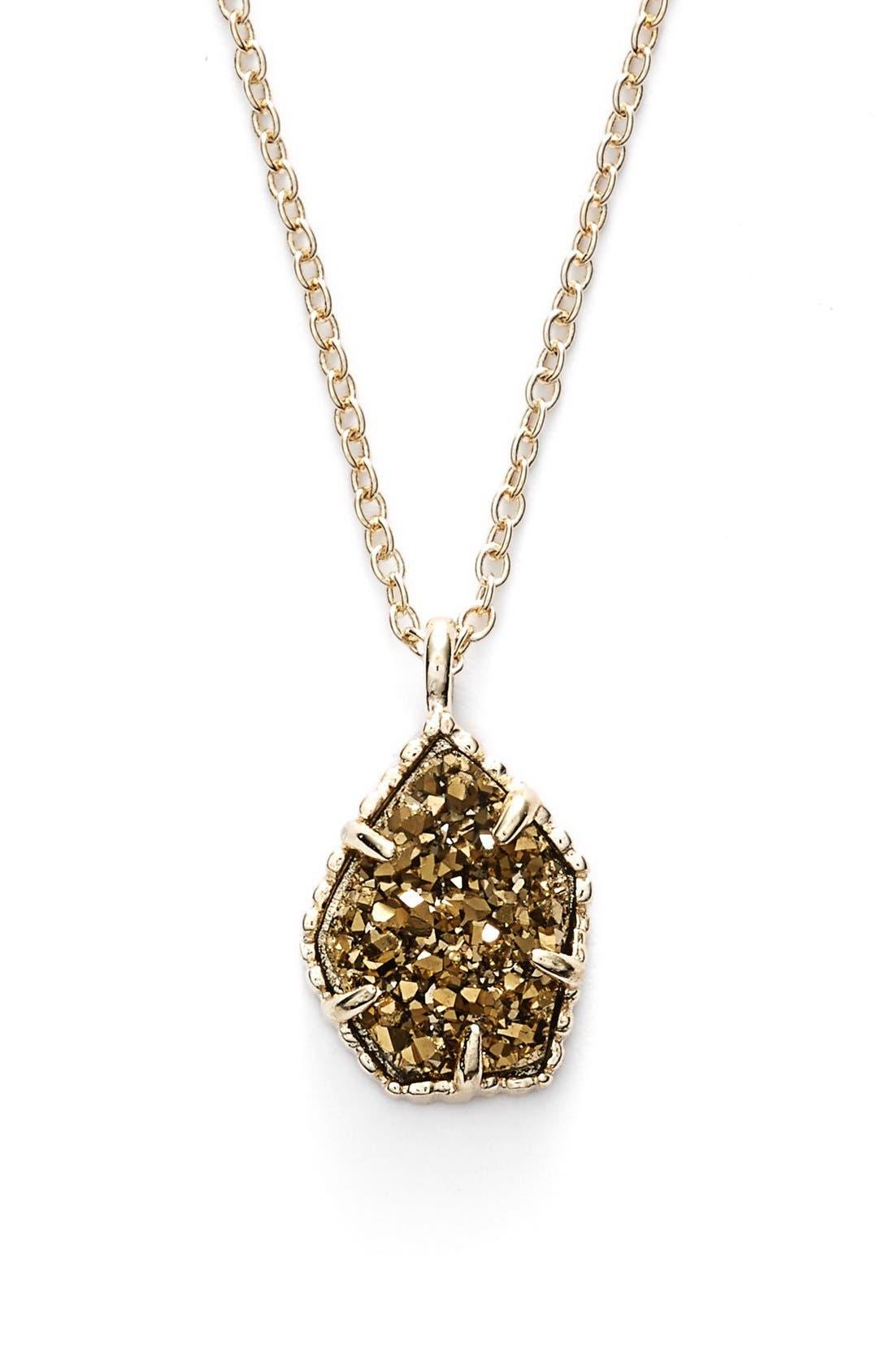 Alternate Image 1 Selected - Kendra Scott 'Catherine' Drusy Pendant Necklace