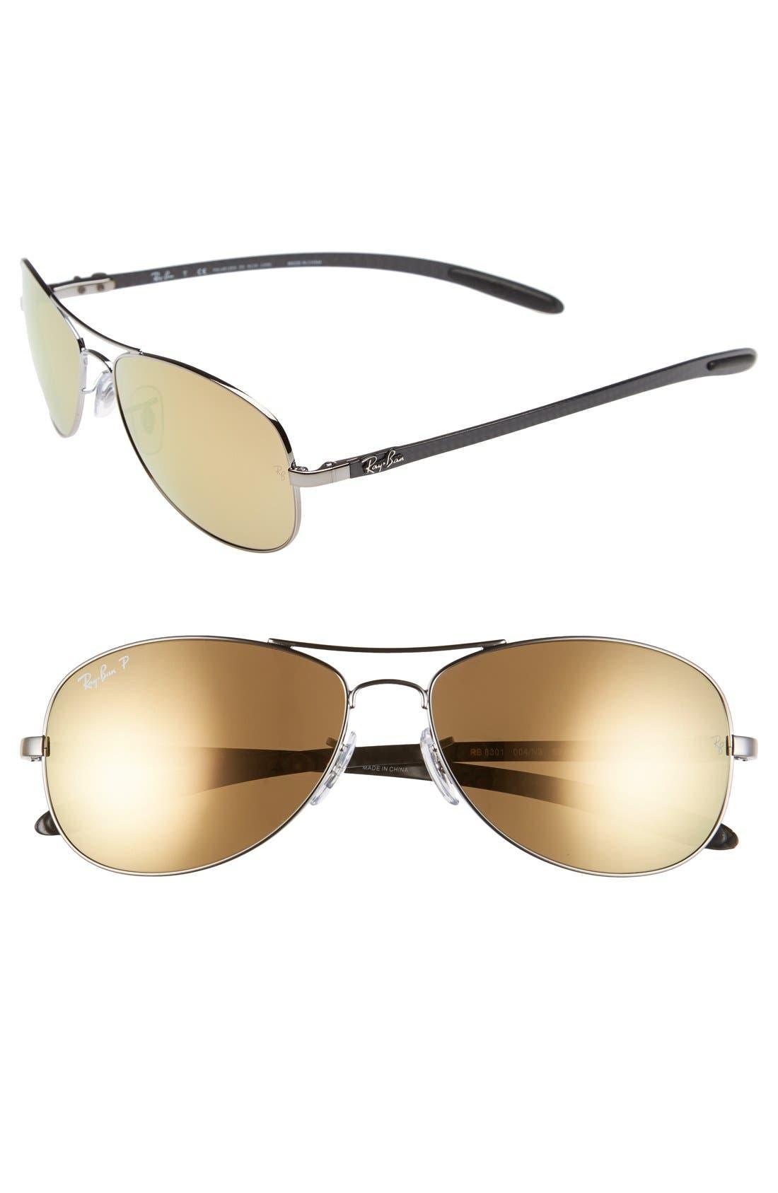 Alternate Image 1 Selected - Ray-Ban 'TECH' 59mm Polarized Aviator Sunglasses