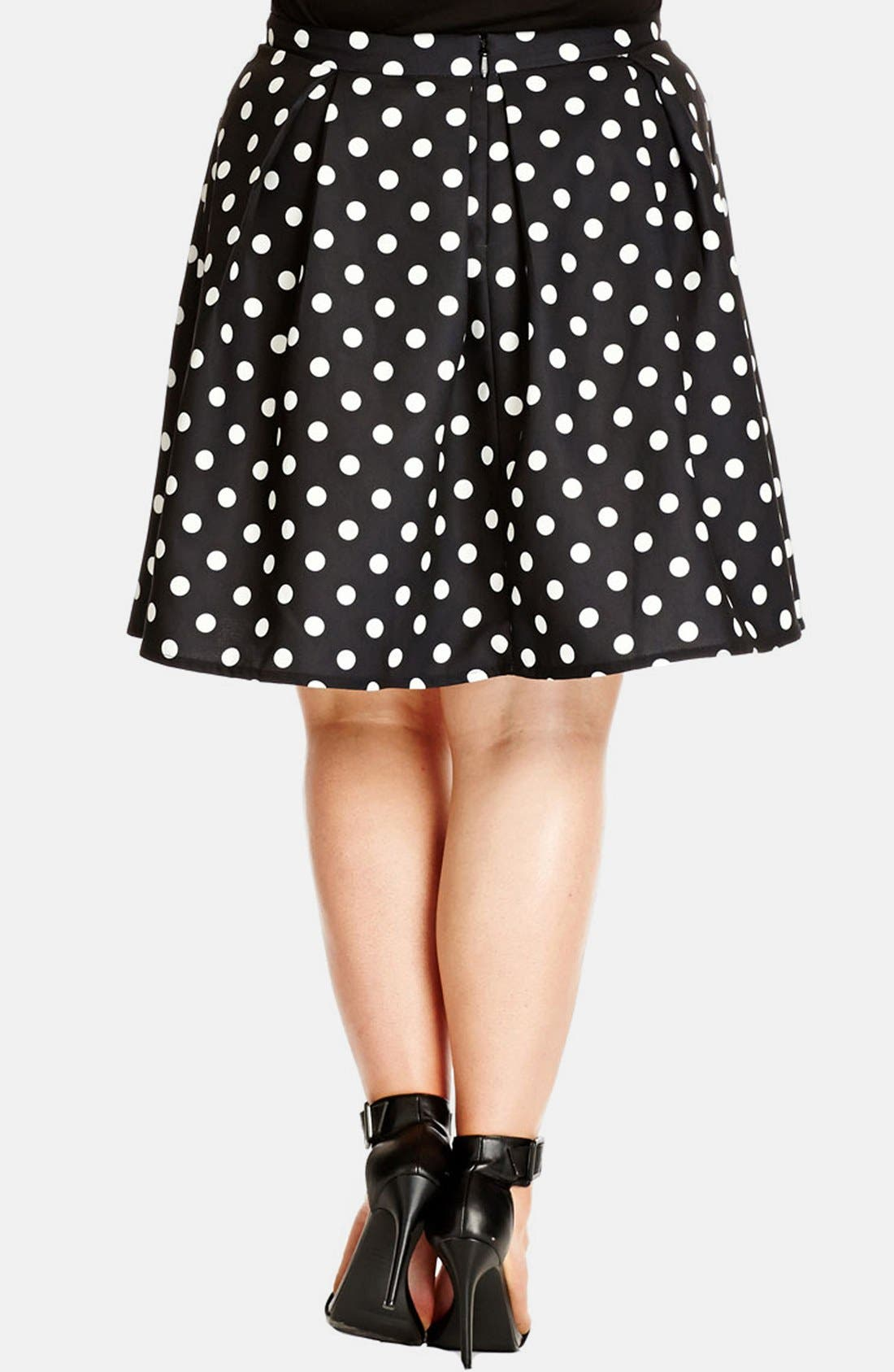 Alternate Image 2  - City Chic 'Candy' Full Skirt (Plus Size)