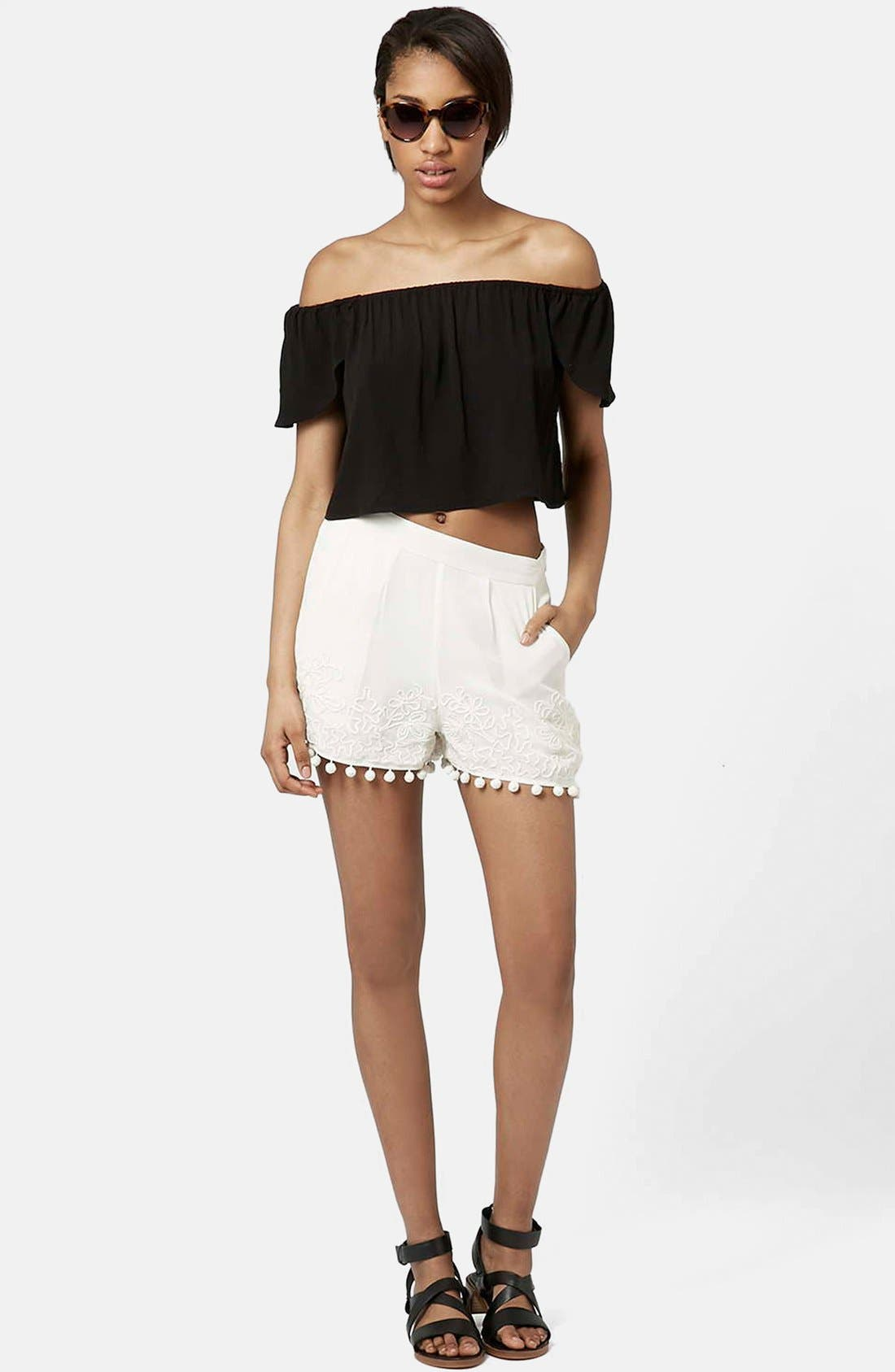 Alternate Image 5  - Topshop Pompom Shorts