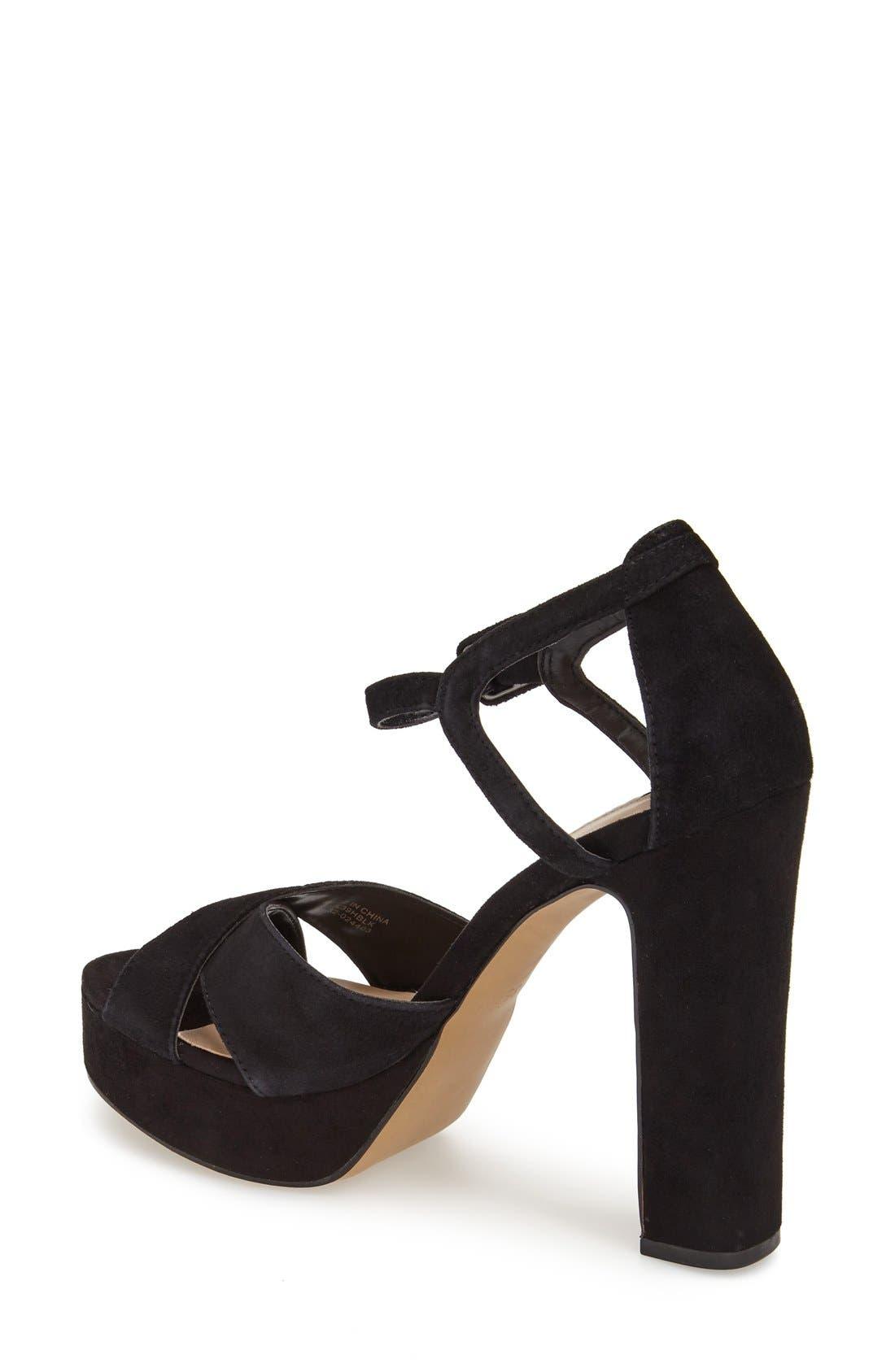 Alternate Image 2  - Topshop 'Locket' Platform Suede Sandal (Women)