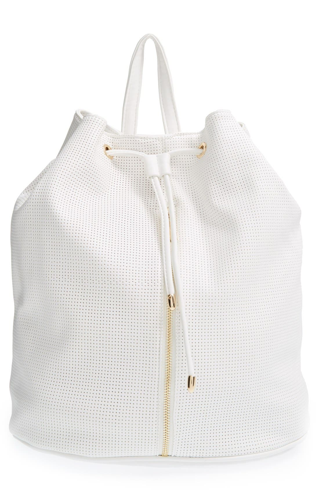 Alternate Image 1 Selected - Deux Lux 'Downtown' Perforated Faux Leather Backpack
