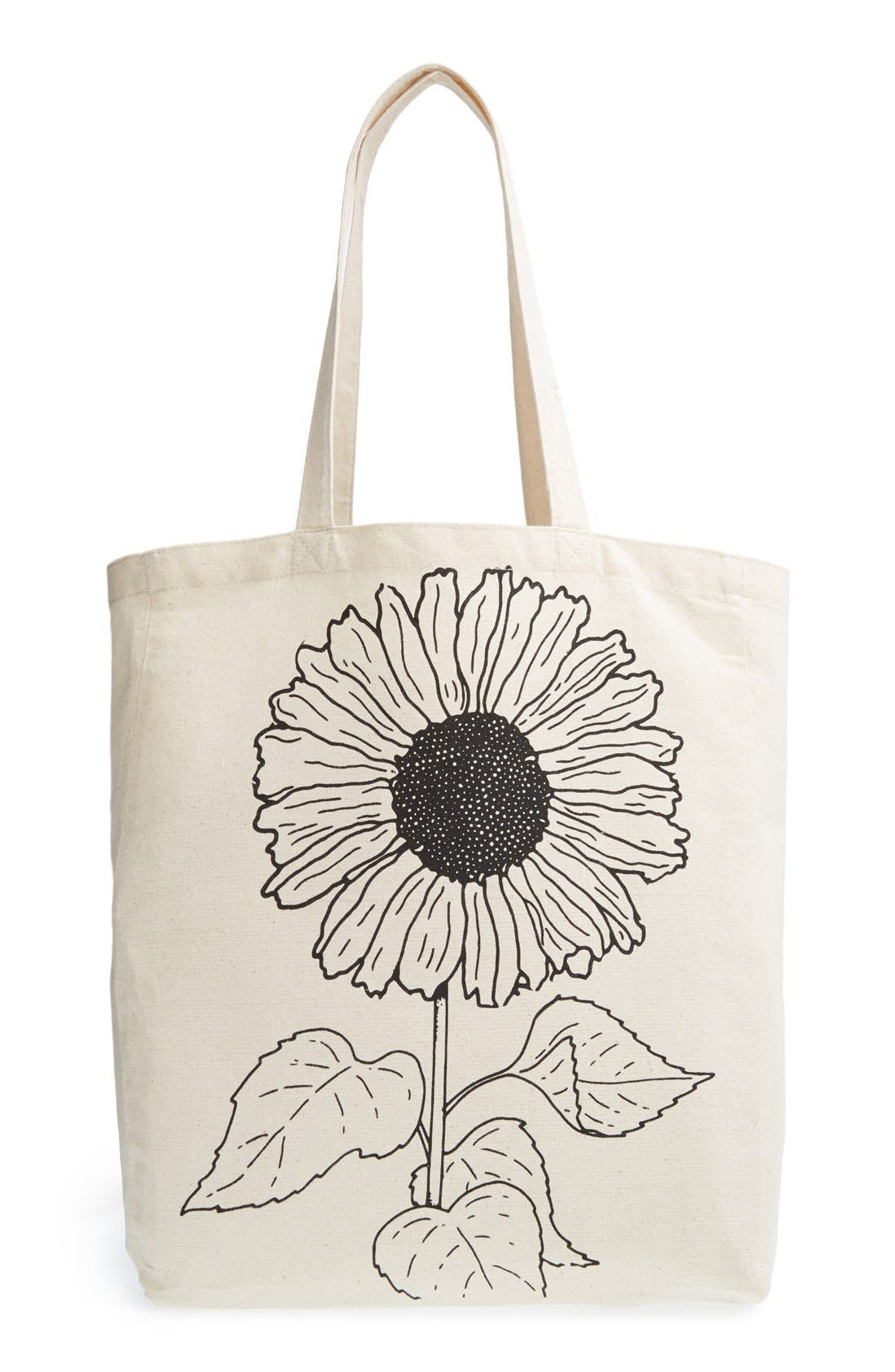 Alternate Image 1 Selected - Tri-Coastal Design 'Sunflower' Canvas Tote