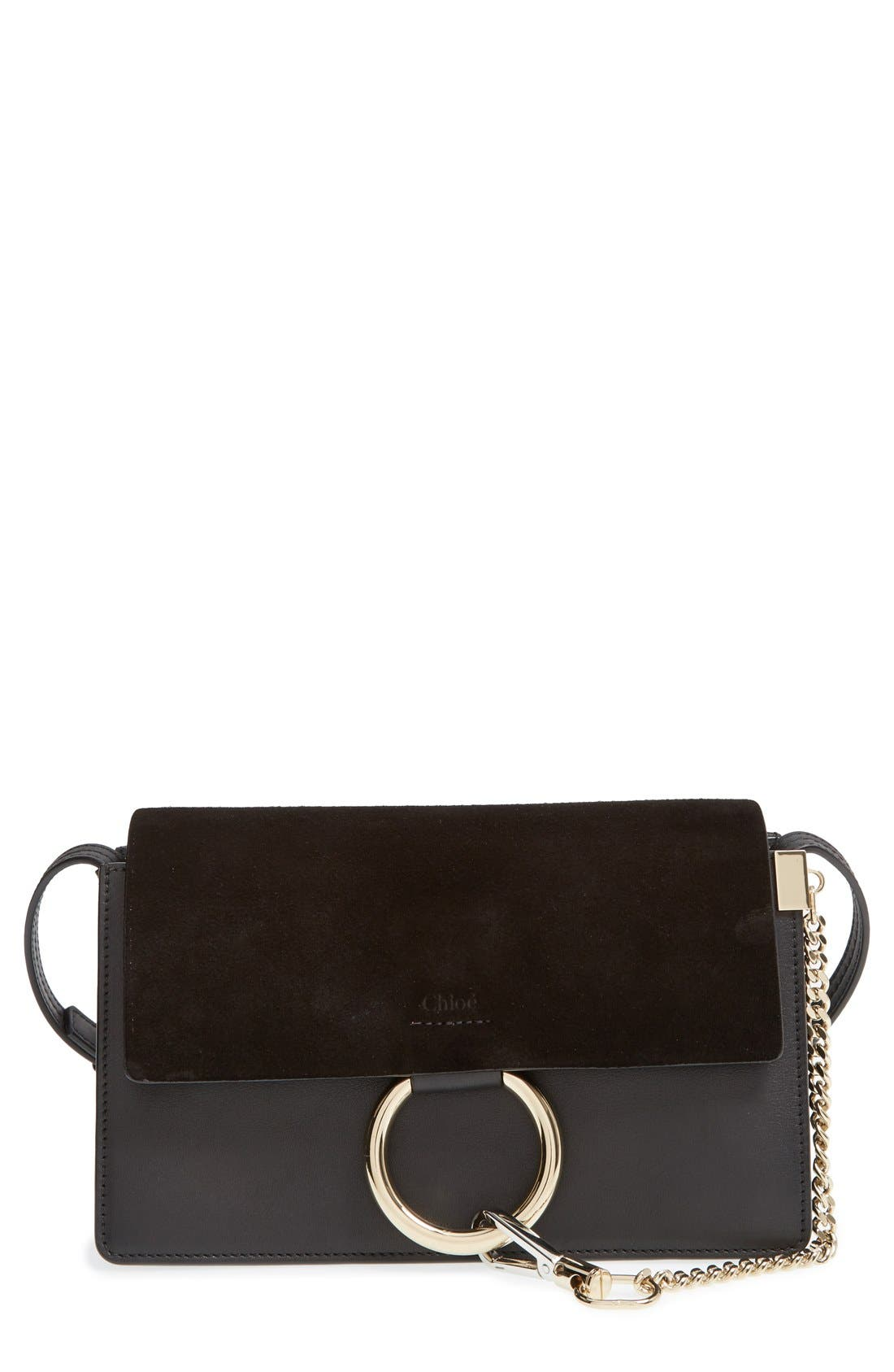 Main Image - Chloé Small Faye Leather Shoulder Bag