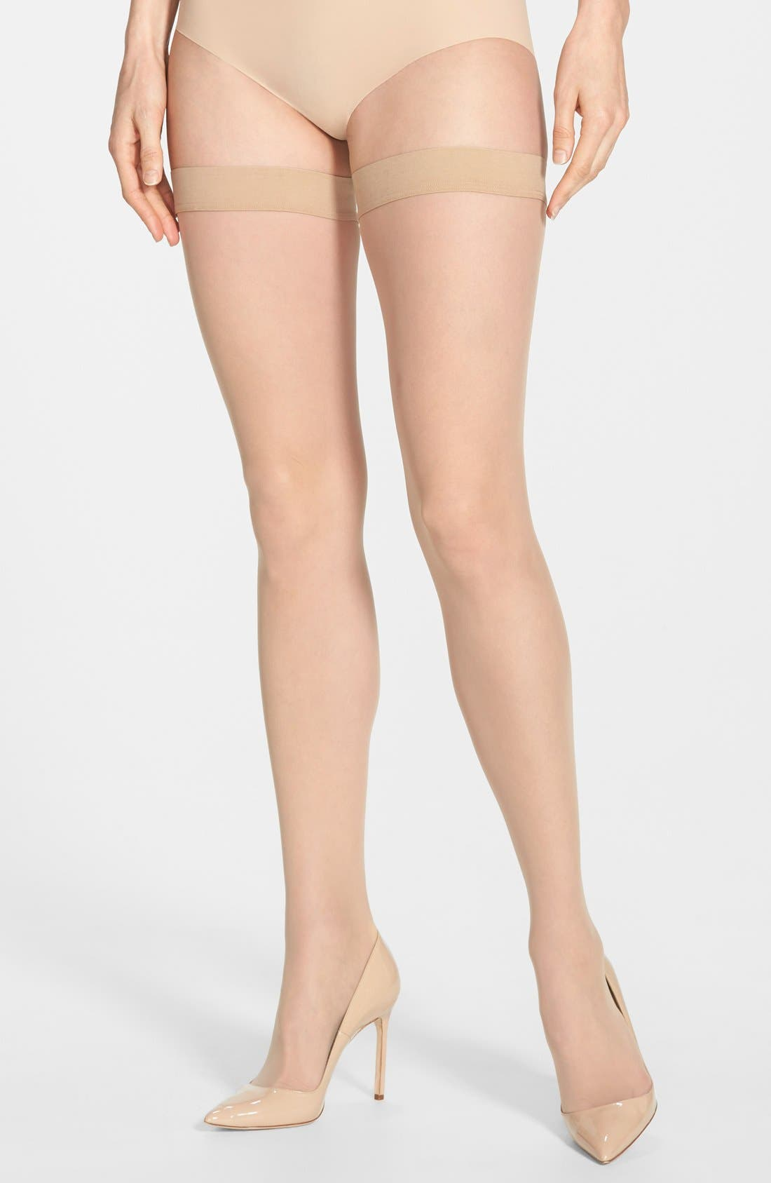 Alternate Image 1 Selected - Wolford Individual 10 Stay-Up Stockings